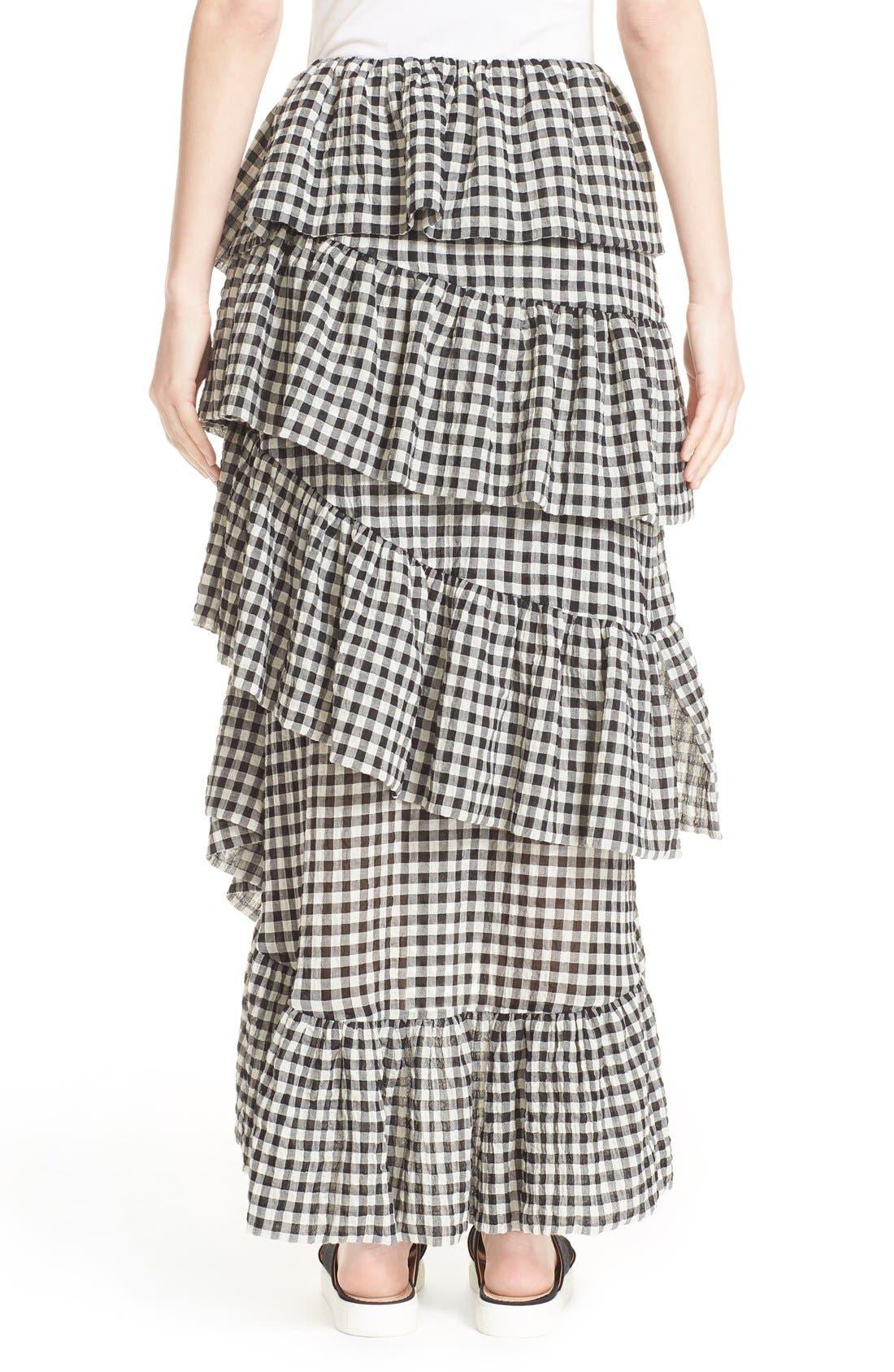 Alternate Image 2  - Isa Arfen 'Full On' Tiered Ruffle Skirt