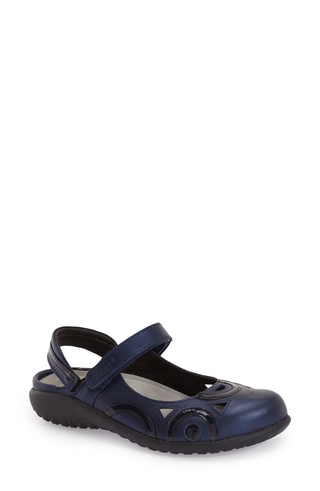 'Rongo' Slip-On,                             Main thumbnail 1, color,                             Navy Patent Leather Combo