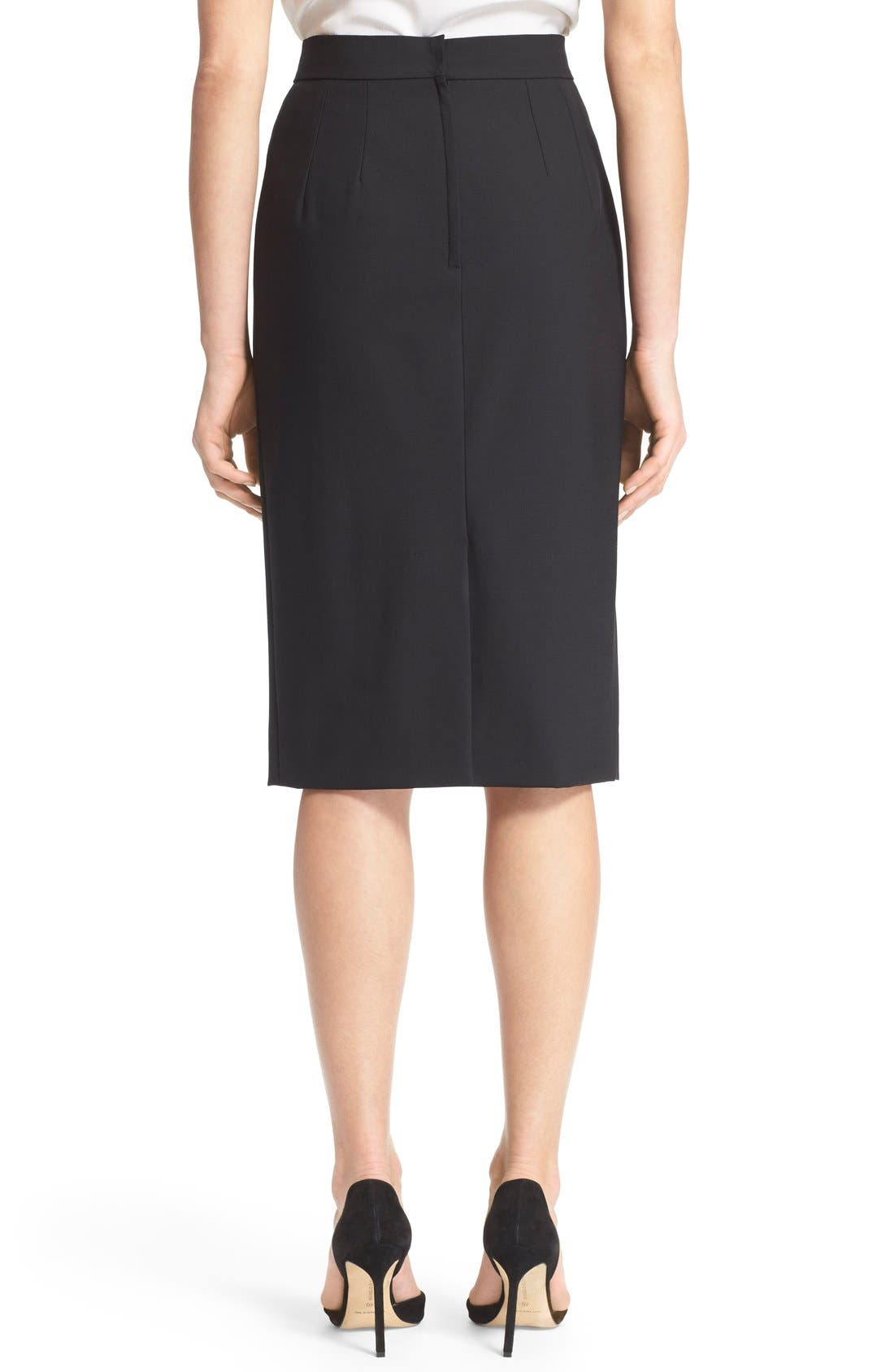Alternate Image 2  - Dolce&Gabbana Stretch Wool Pencil Skirt