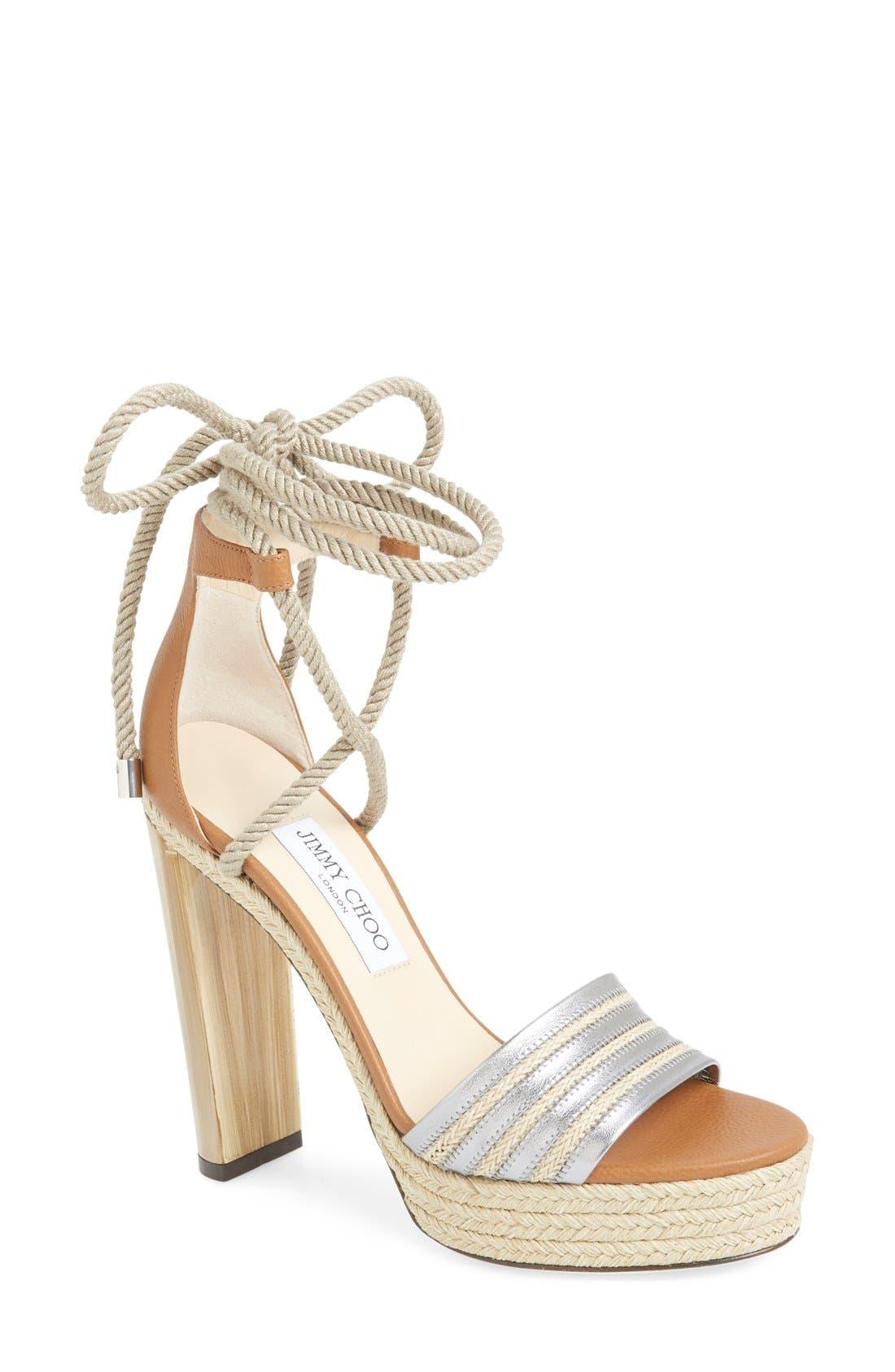 Alternate Image 1 Selected - Jimmy Choo 'Mayje' Platform Sandal (Women)
