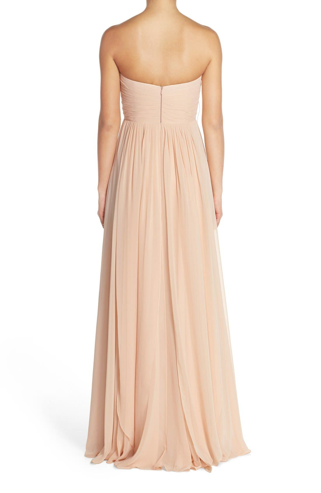 Alternate Image 3  - Jenny Yoo Mira Convertible Strapless Chiffon Gown