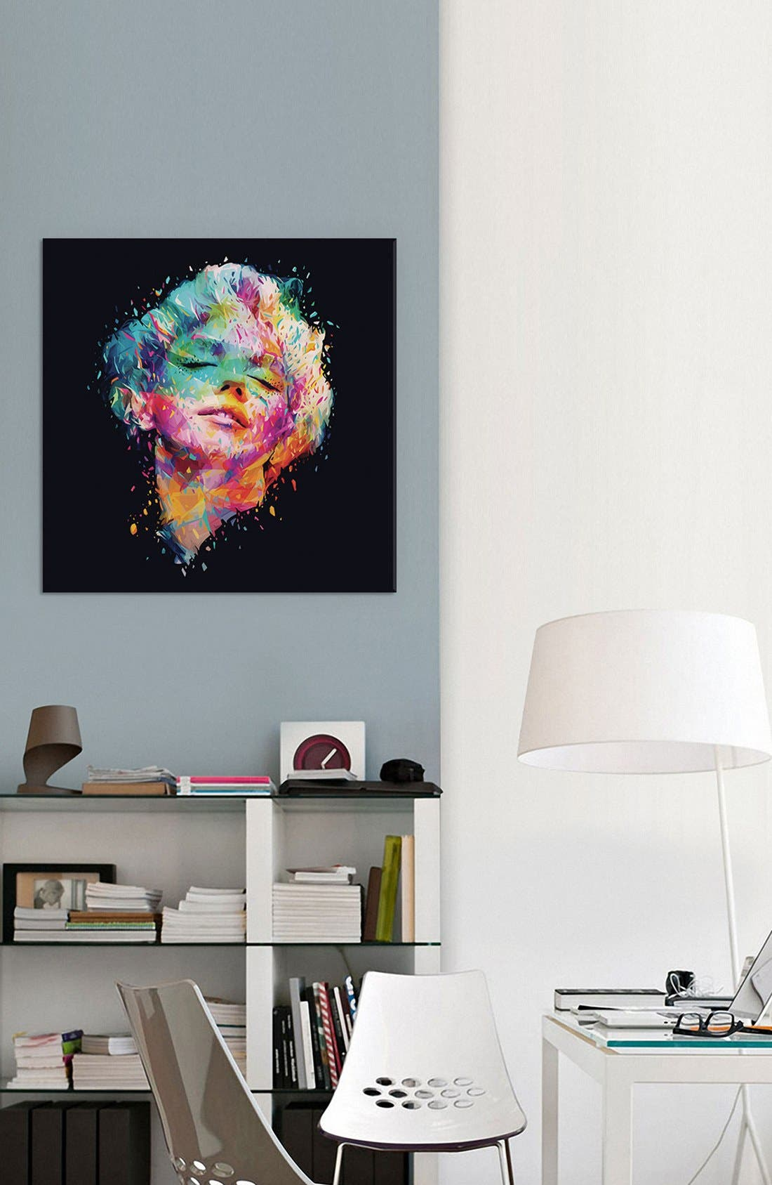 'Marilyn' Giclée Print Canvas Art,                             Alternate thumbnail 2, color,                             Black