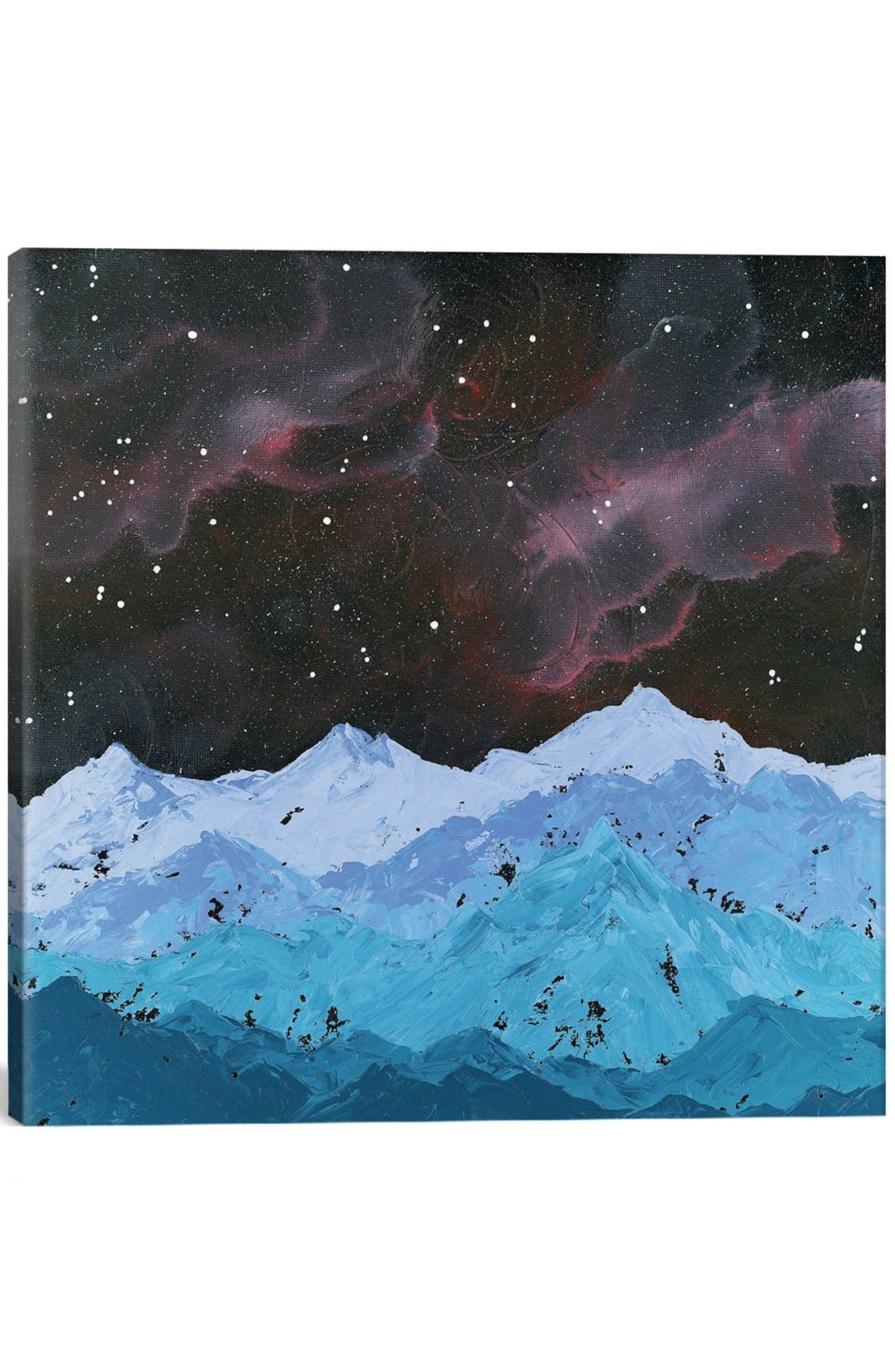 'Space Mountains' Giclée Print Canvas Art,                             Main thumbnail 1, color,                             Blue
