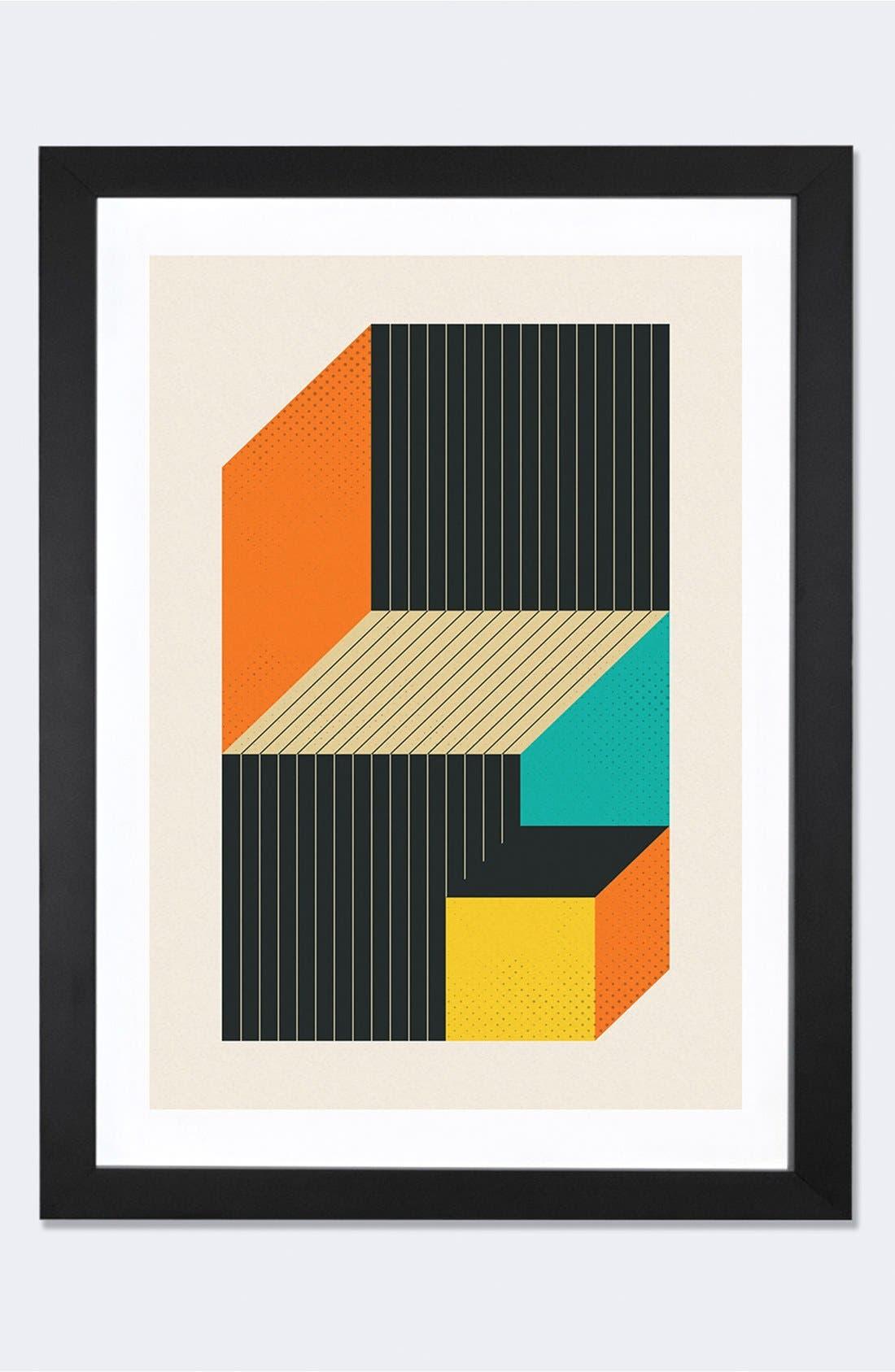 Alternate Image 1 Selected - iCanvas 'Cubes VI' Framed Fine Art Print