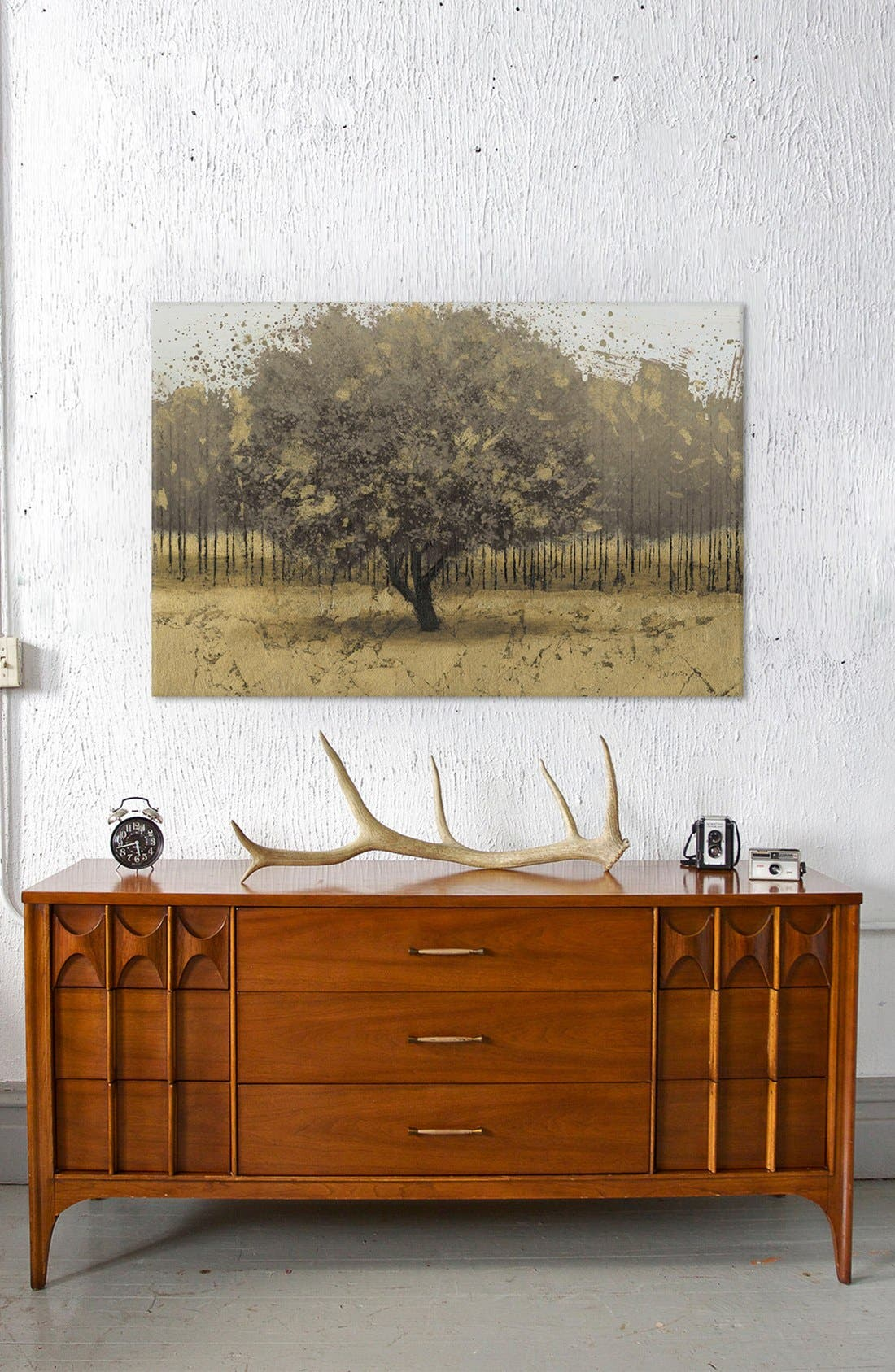 'Golden Trees I' Giclée Print Canvas Art,                             Alternate thumbnail 2, color,                             Brown