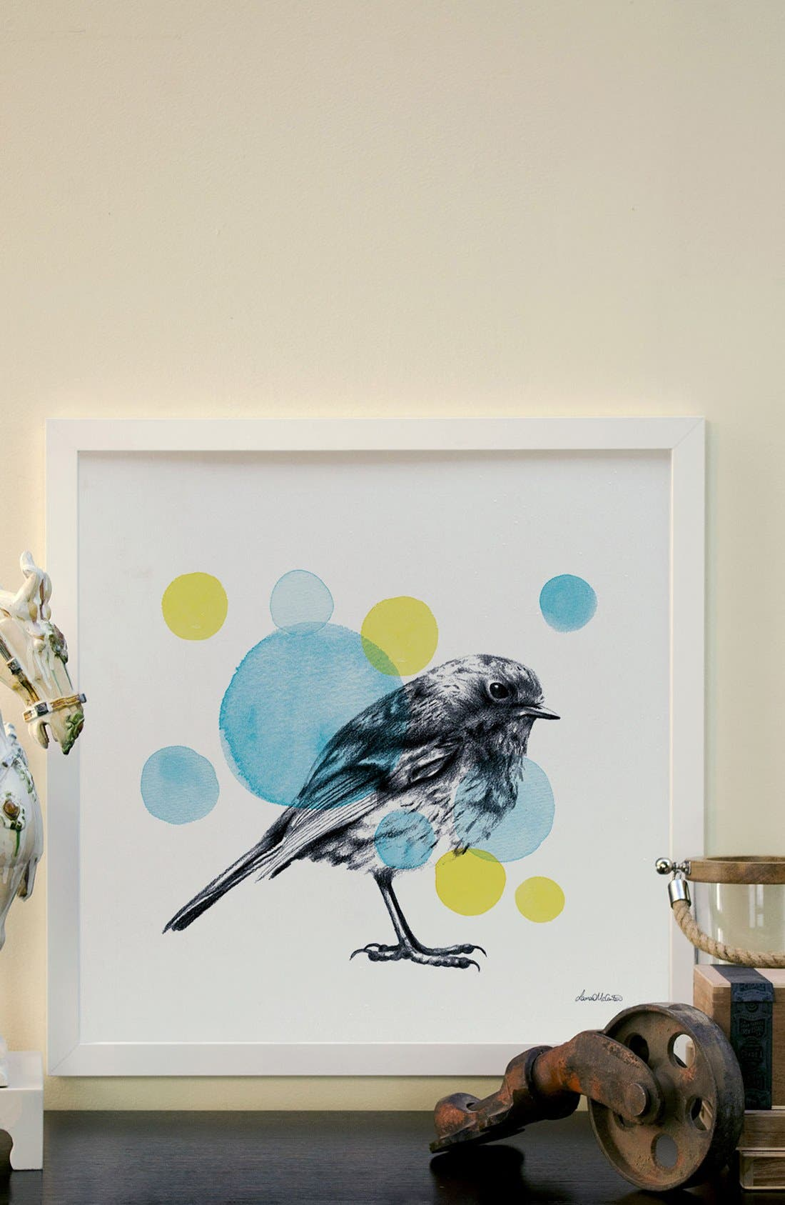 'Sketchbook - Bird' Giclée Print Framed Canvas Art,                             Alternate thumbnail 2, color,                             White