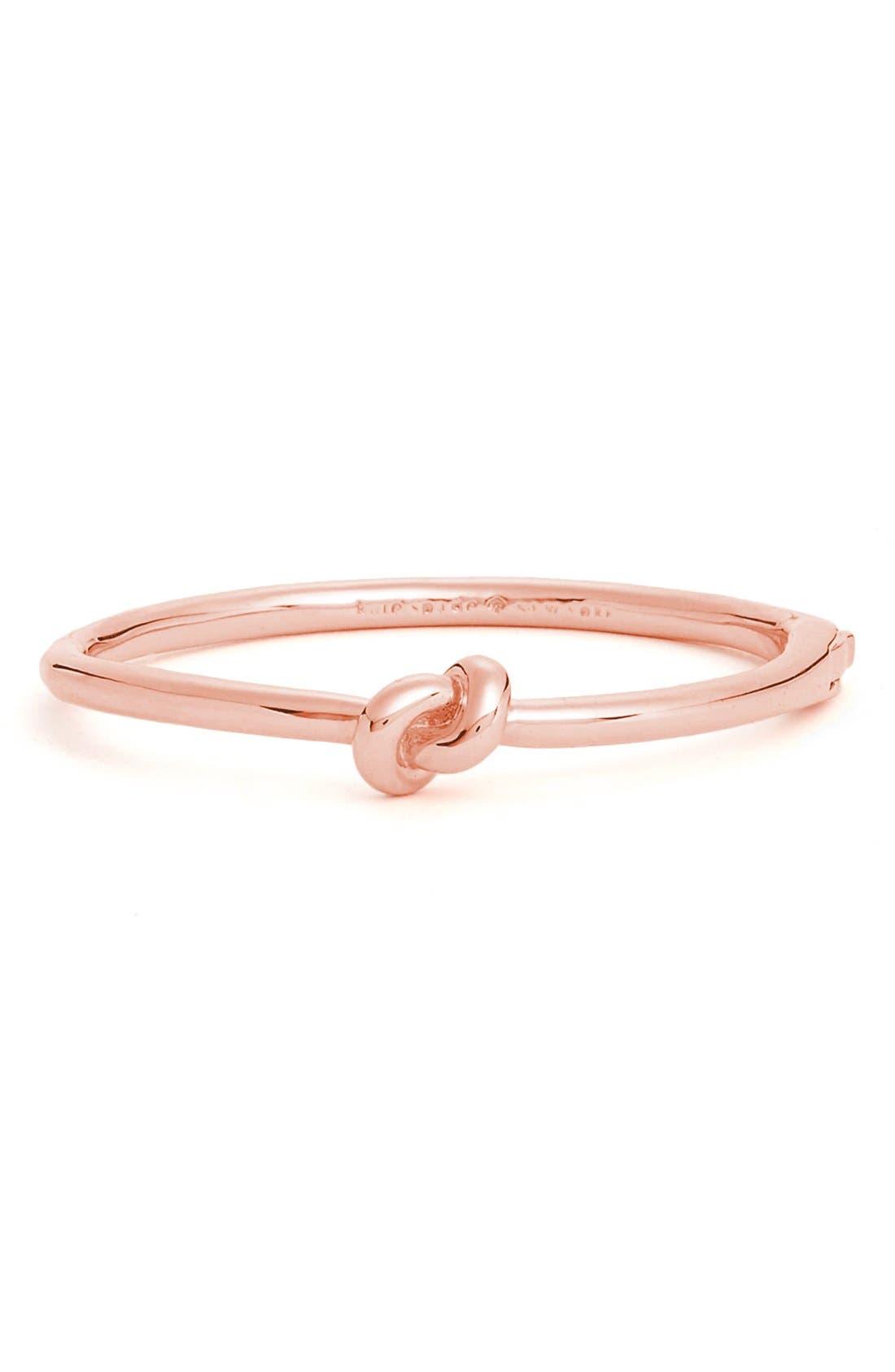'sailors knot' bangle,                         Main,                         color, Rose Gold