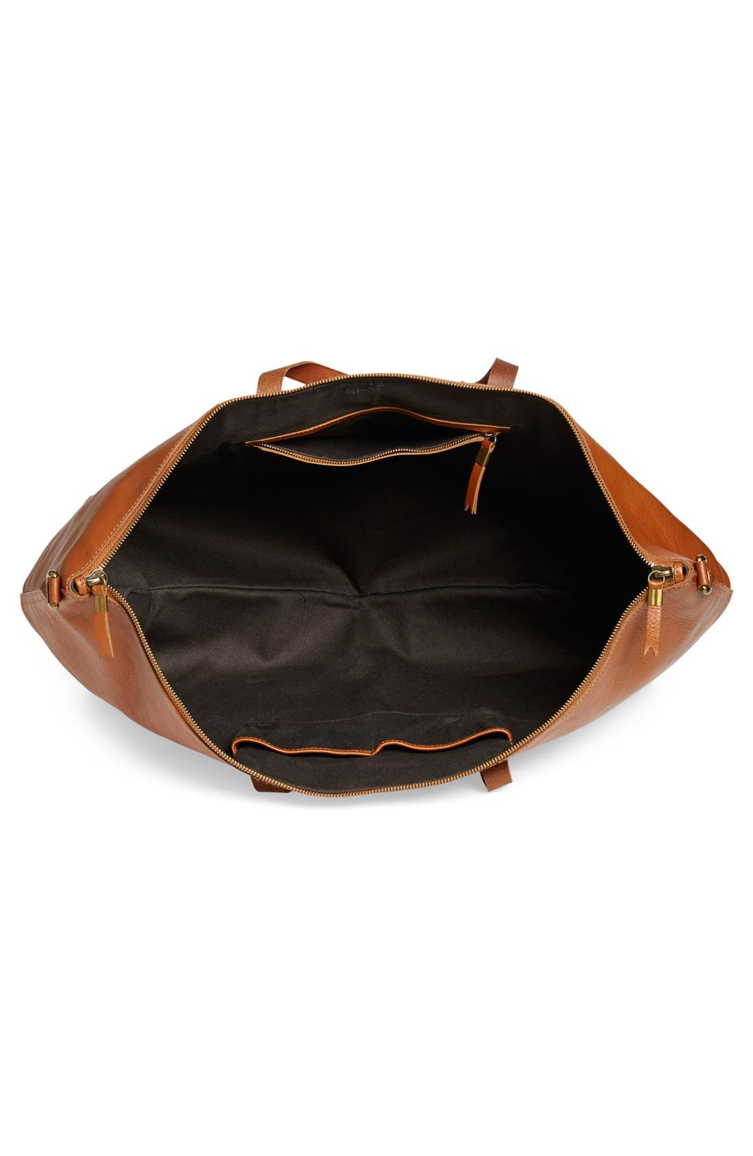 'Transport' Weekend Bag,                             Alternate thumbnail 4, color,                             English Saddle