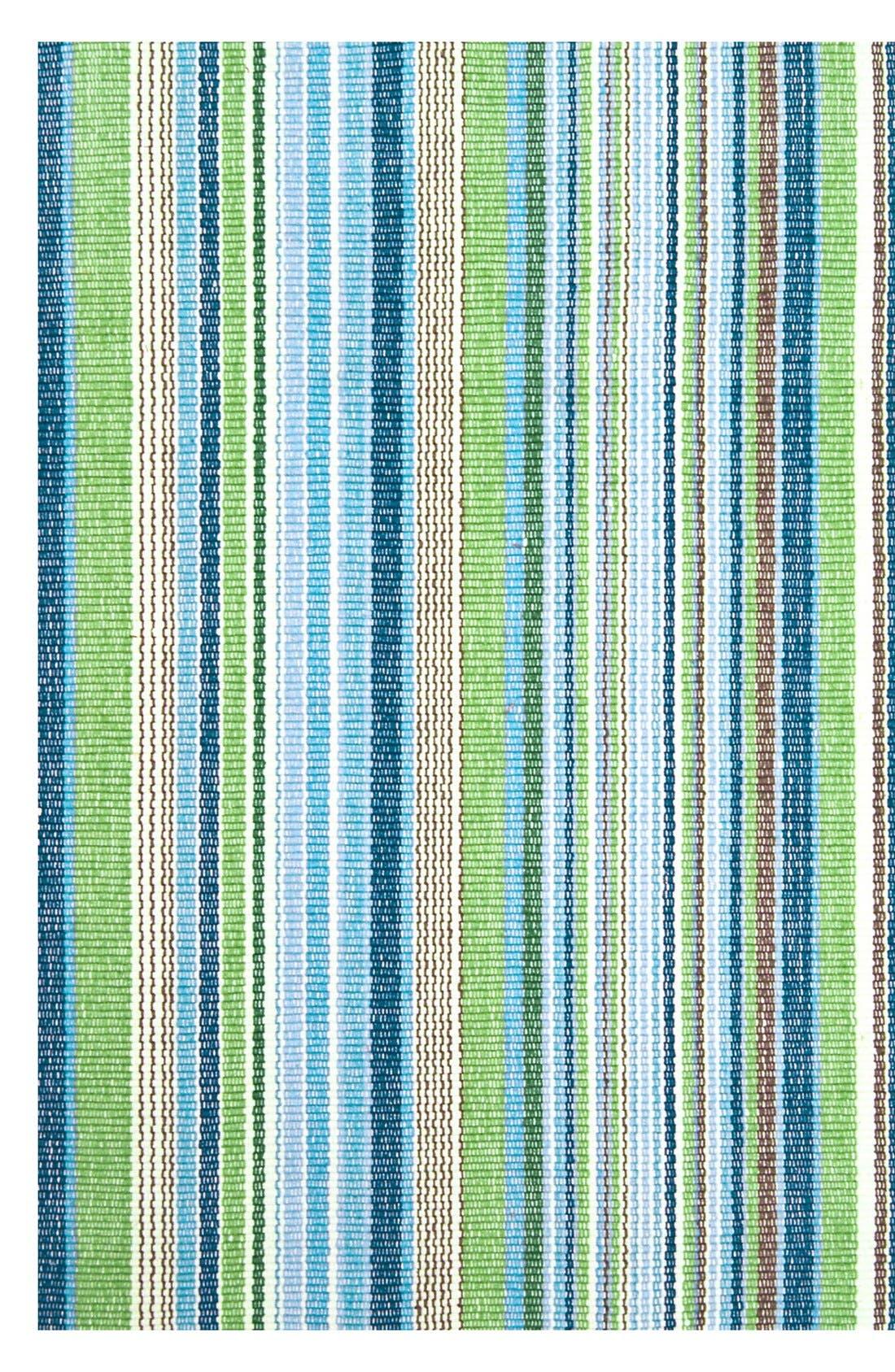 'Fisher Ticking' Stripe Rug,                         Main,                         color, Green/ Multi