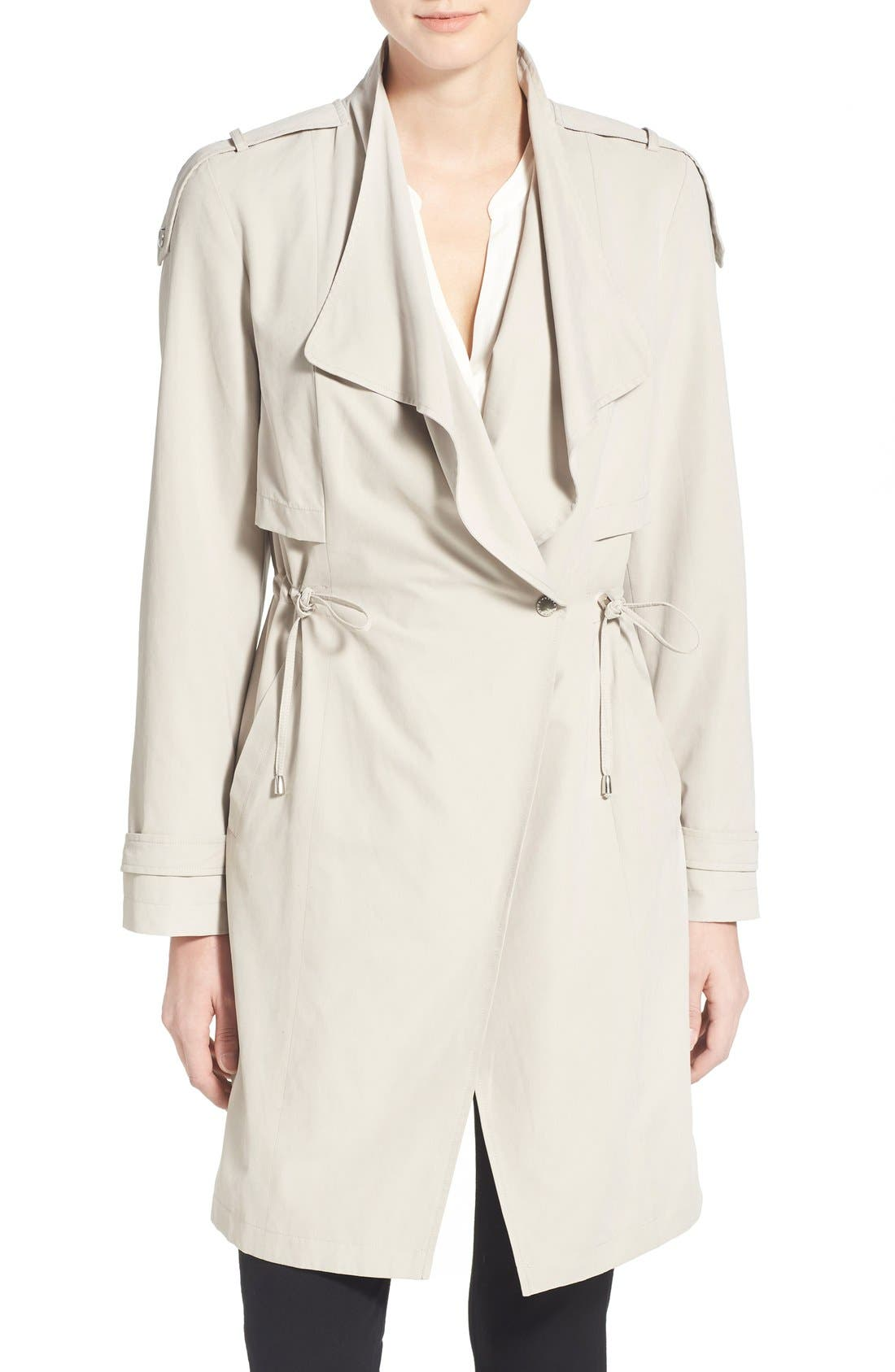 Alternate Image 4  - French Connection Drape Front Trench Coat