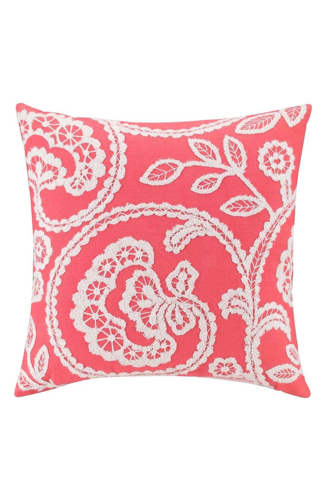 'Ingrid' Pillow,                         Main,                         color, Coral/ Taupe