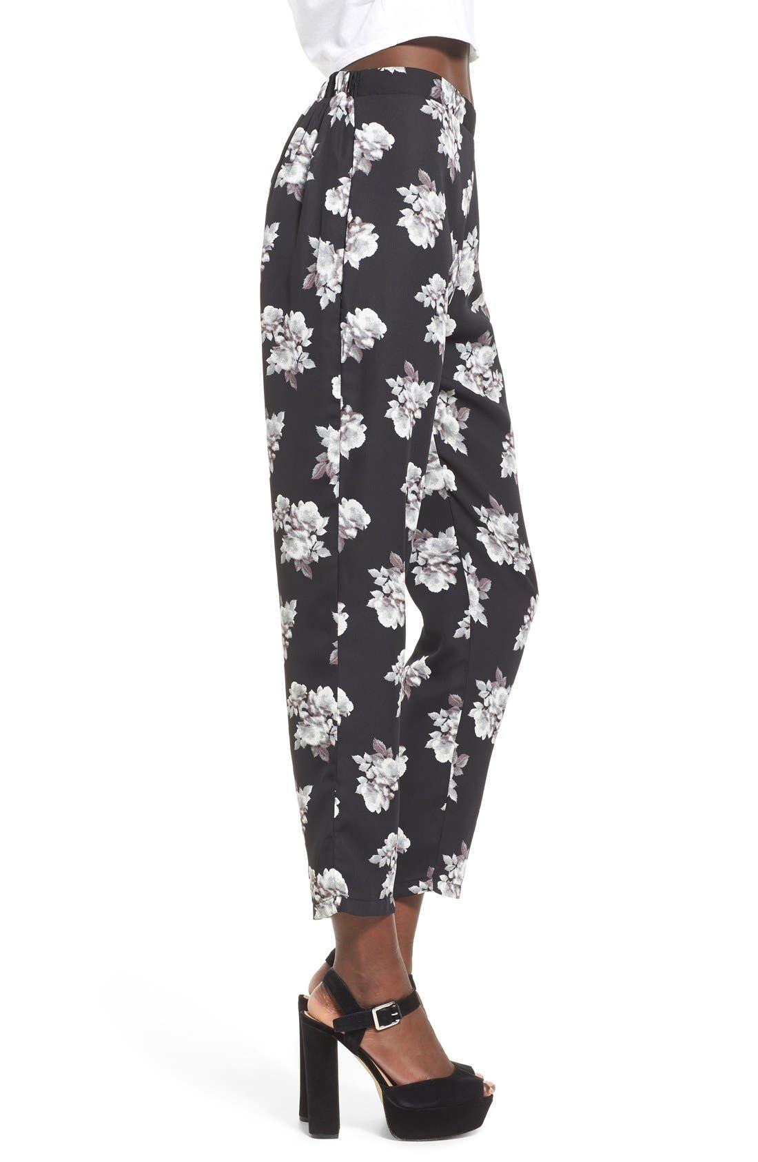 Alternate Image 3  - Leith Floral Print Crop Pants