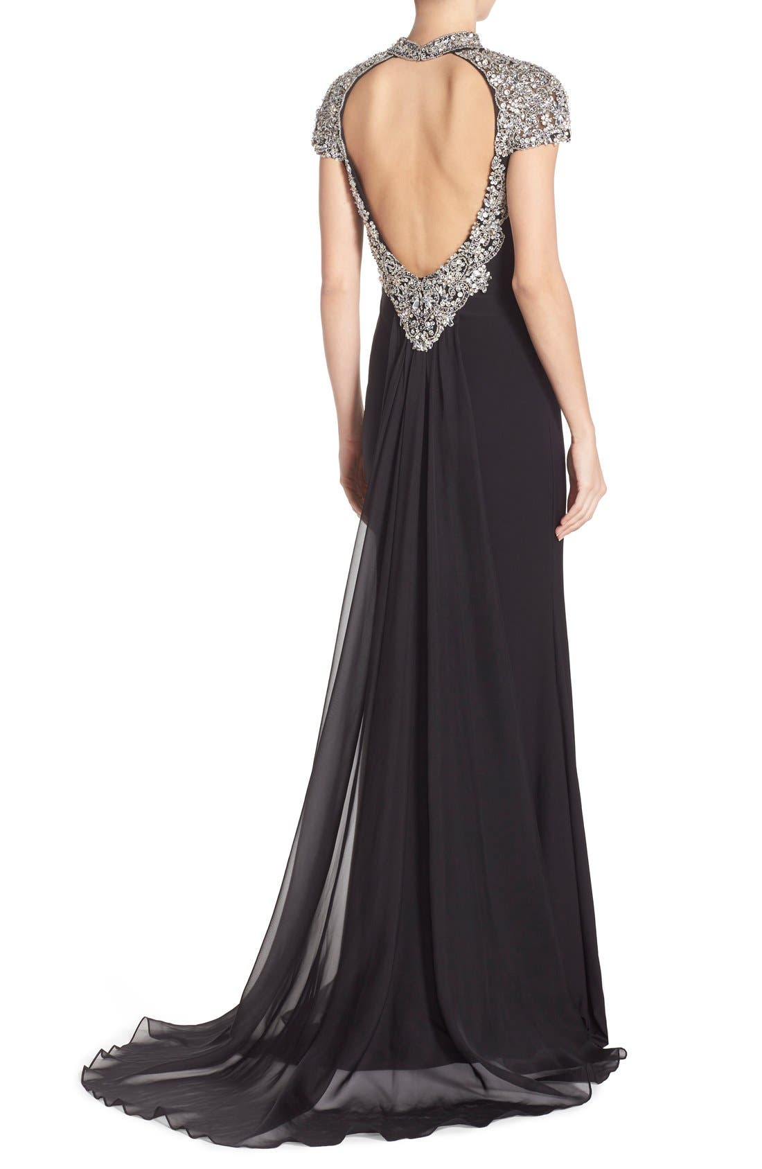 Alternate Image 2  - Sean Collection Embellished Jersey Gown