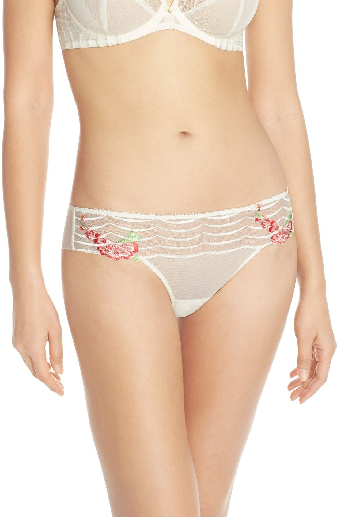Alternate Image 1 Selected - Wacoal 'Intuition' Embroidered Tanga