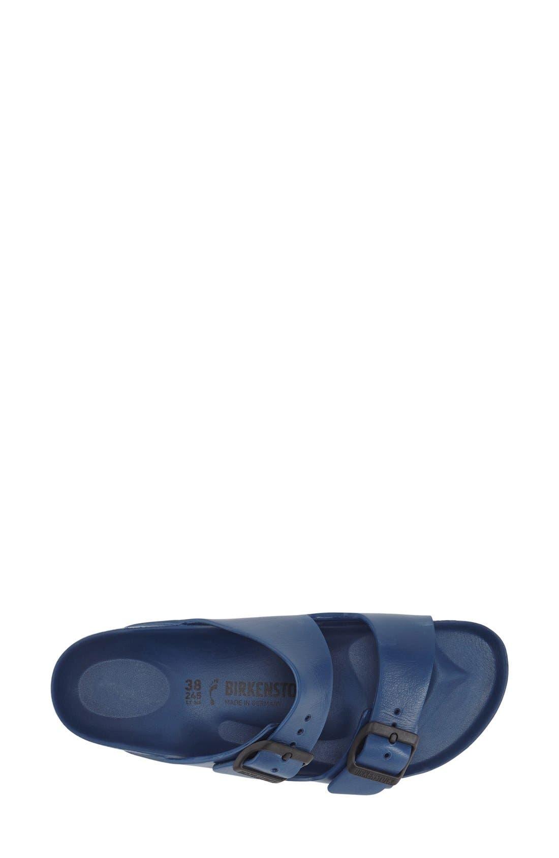 Essentials - Arizona Slide Sandal,                             Alternate thumbnail 3, color,                             Navy Eva