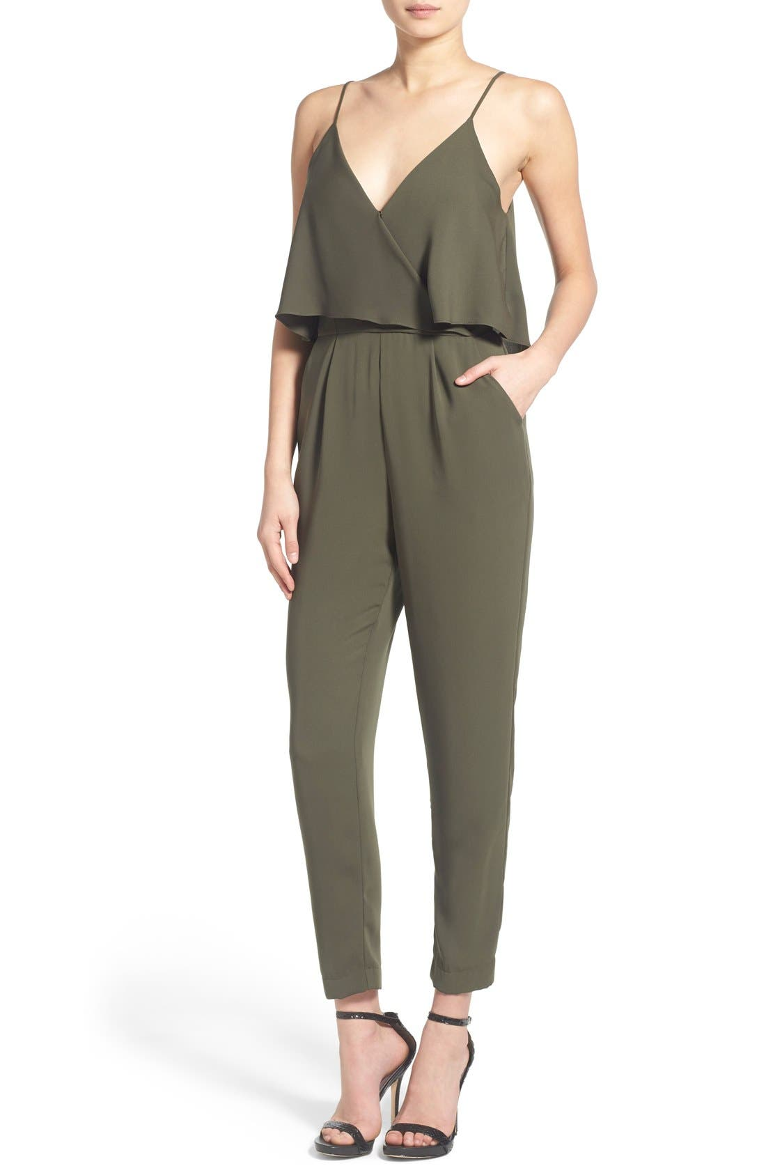 Alternate Image 1 Selected - ASTR Popover Bodice Crop Jumpsuit