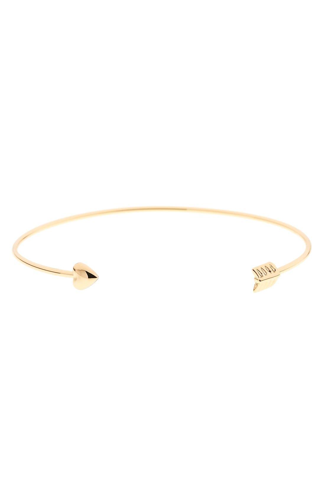 'Cupid's Arrow' Open Cuff,                         Main,                         color, Gold