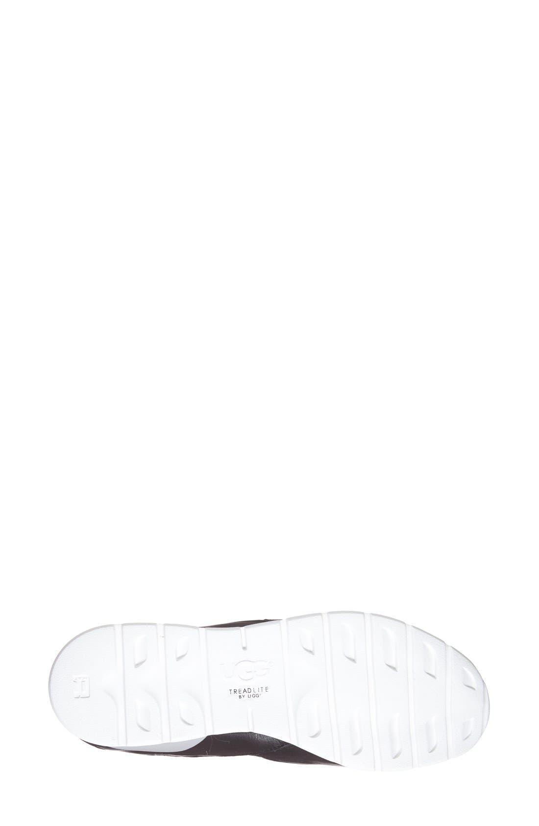'Annetta' Slip-On Sneaker,                             Alternate thumbnail 4, color,                             Black Leather