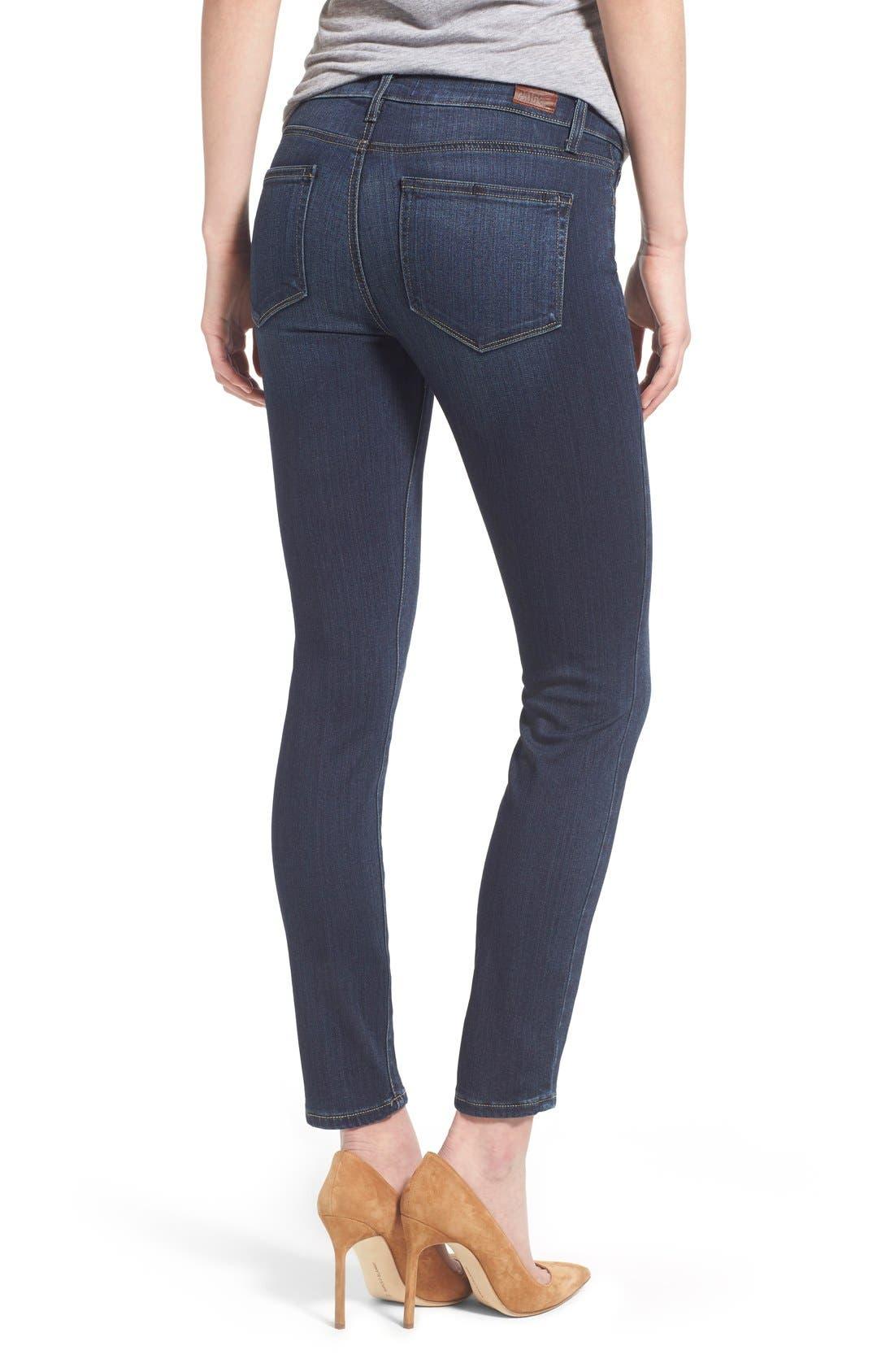 Alternate Image 2  - Paige Denim 'Transcend - Verdugo' Ankle Ultra Skinny Jeans (Nottingham) (Petite)