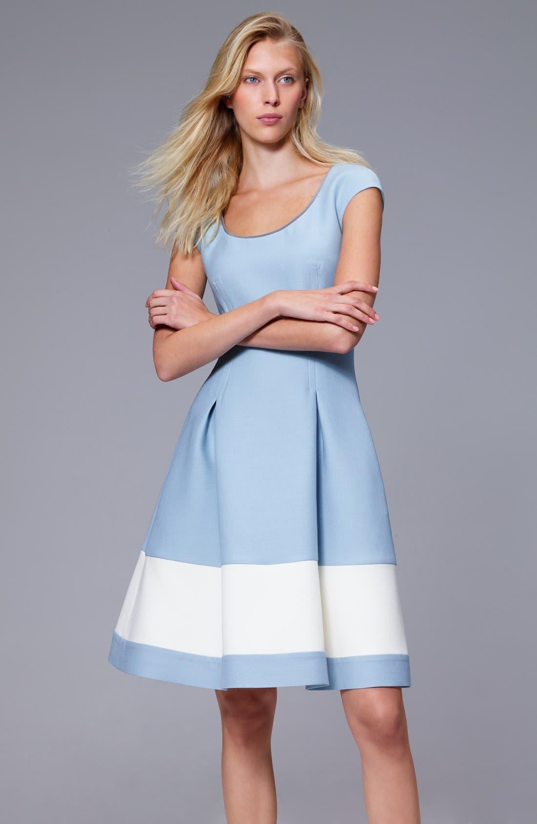 Alternate Image 7  - Fendi Stripe Wool & Silk Blend Fit & Flare Dress