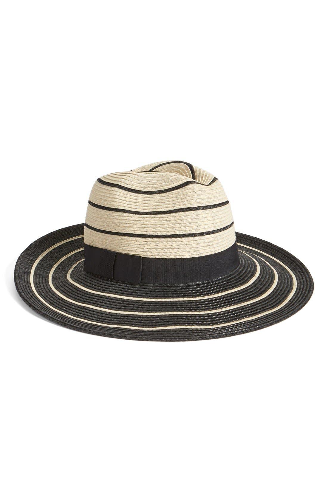 Main Image - Halogen Striped Panama Hat