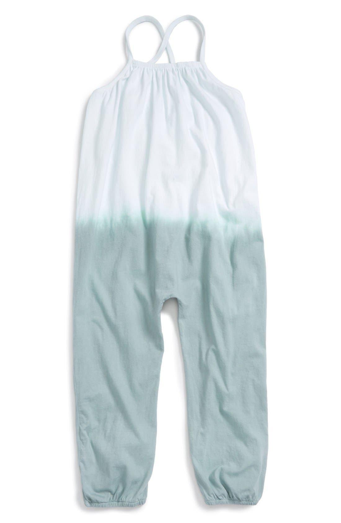 Main Image - Burt's Bees Baby Dip Dye Sleeveless Jumpsuit (Toddler Girls & Little Girls)