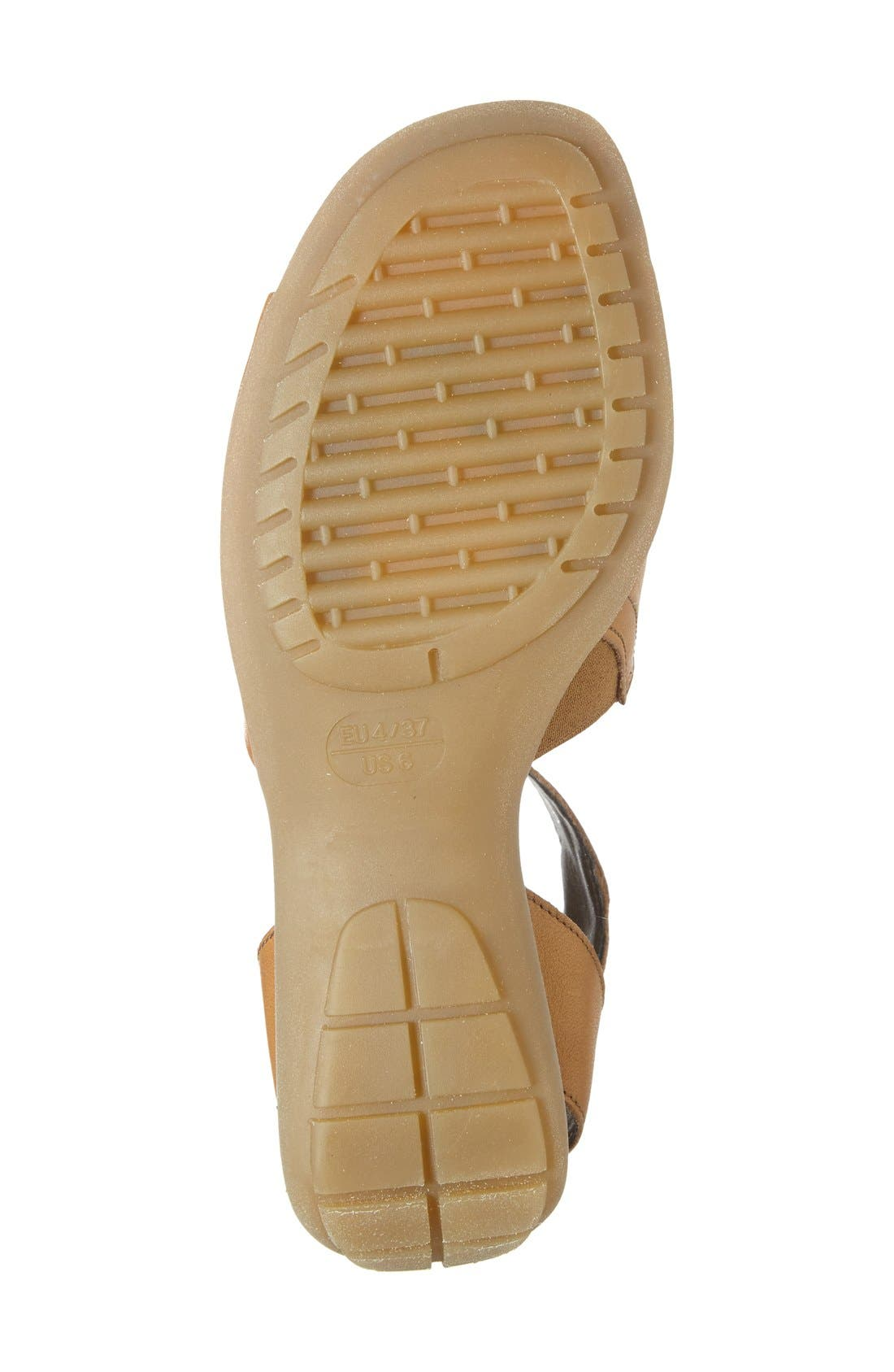 'Beglad' Leather Ankle Strap Sandal,                             Alternate thumbnail 4, color,                             Virginia Brown Leather