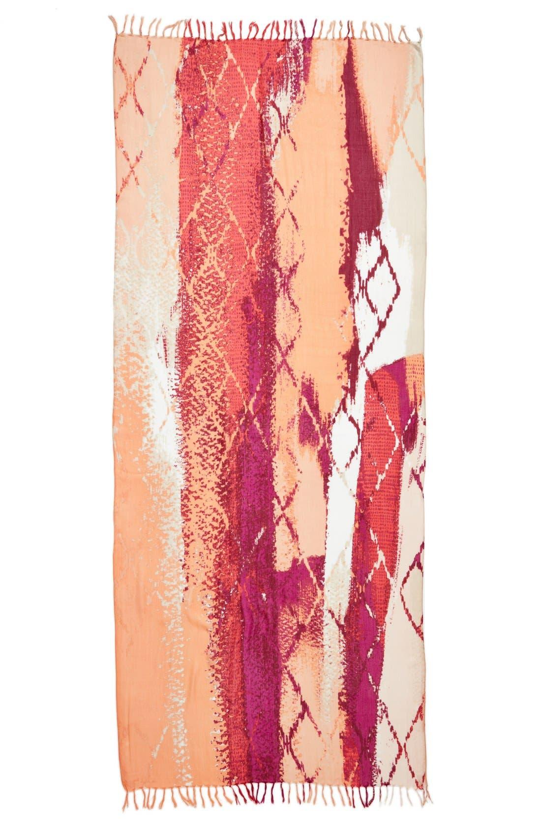 Alternate Image 2  - Nordstrom Textured Stripe Scarf