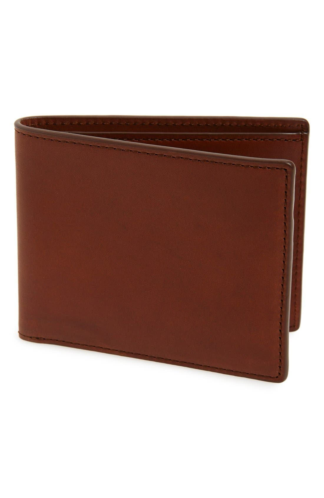Hampshire Leather Bifold Wallet,                             Main thumbnail 1, color,                             Brown