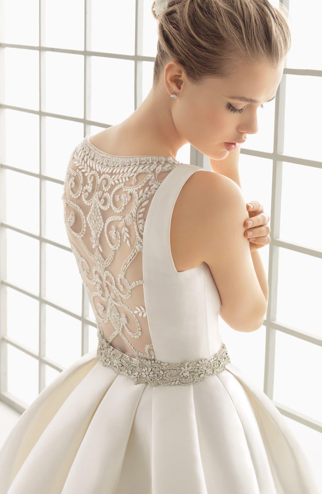 Alternate Image 3  - Rosa Clara Couture Delfos Beaded Back Ballgown Dress