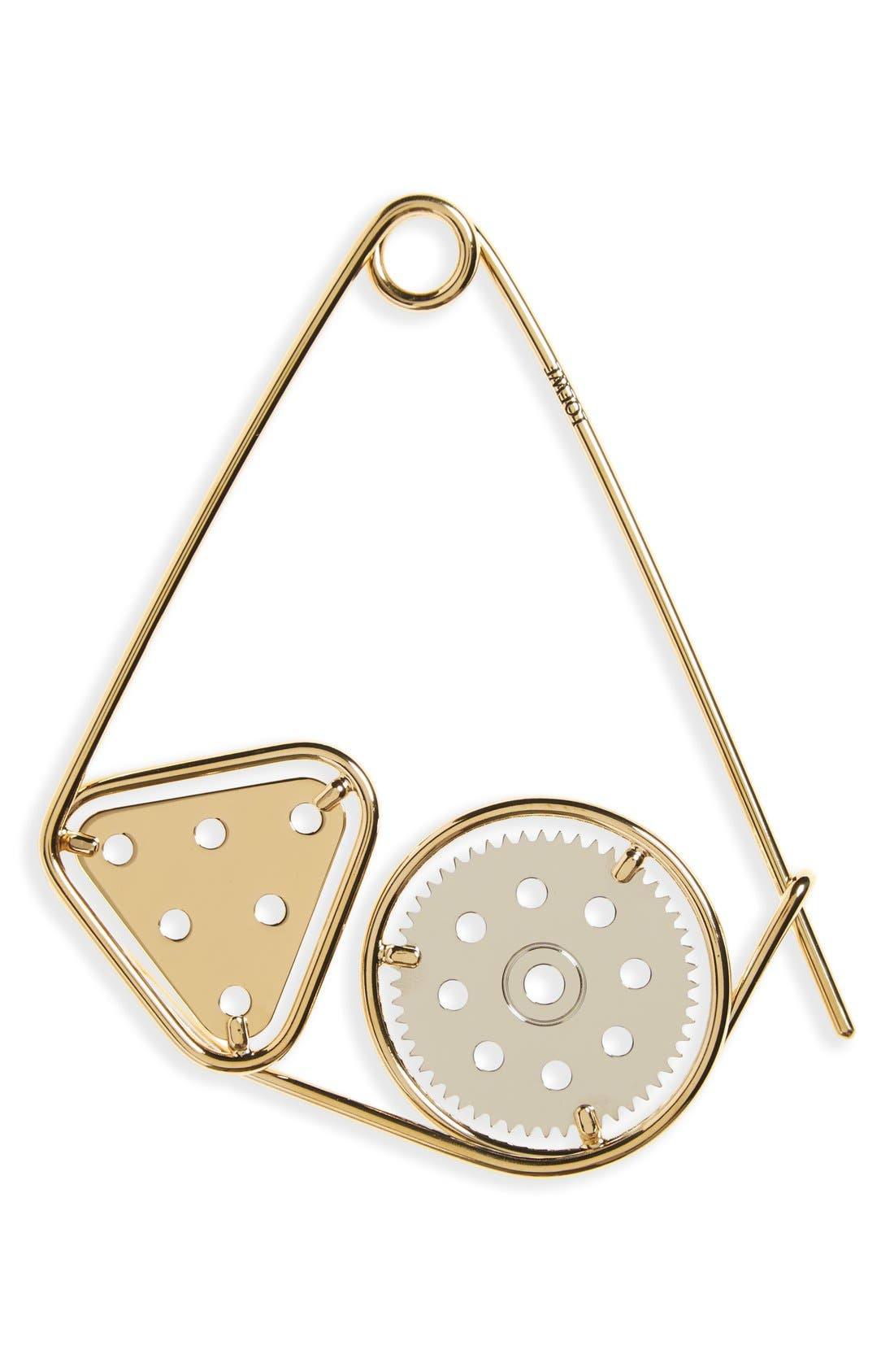 'Meccano' Double Pin Bag Charm,                         Main,                         color, Palladium/ Gold
