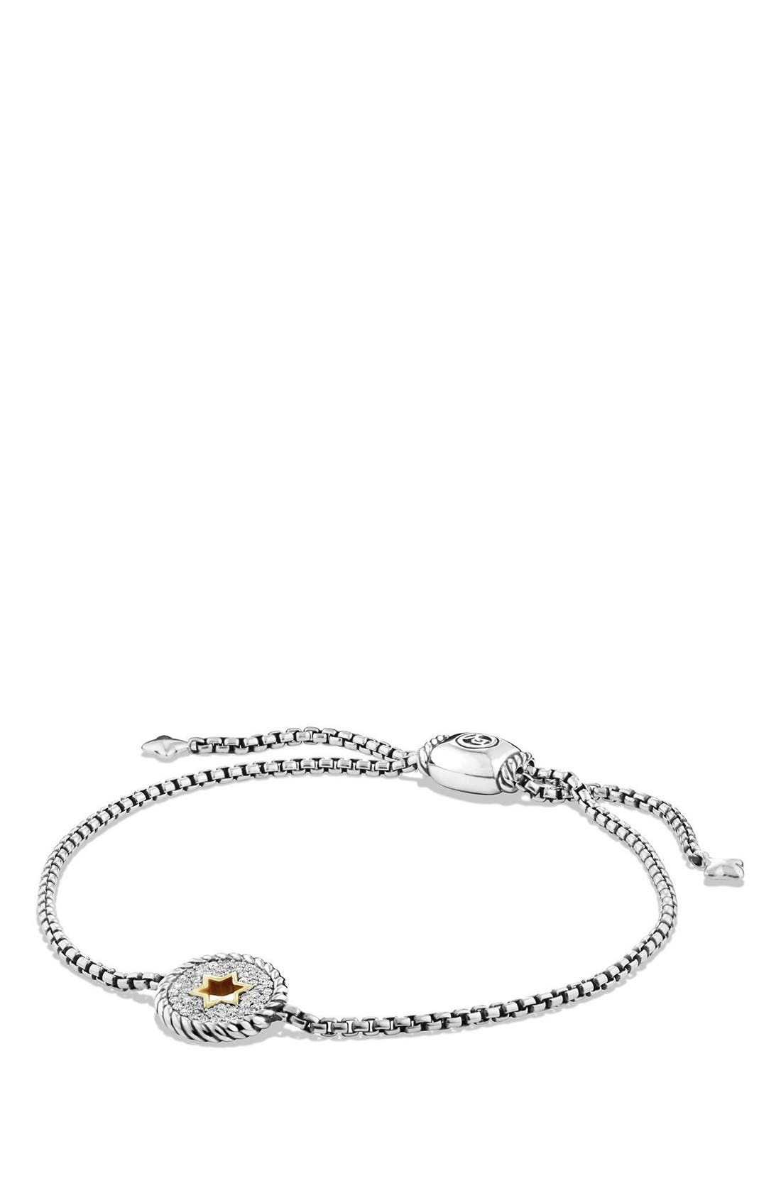 DAVID YURMAN Cable Collectibles Star of David Station Bracelet with Diamonds