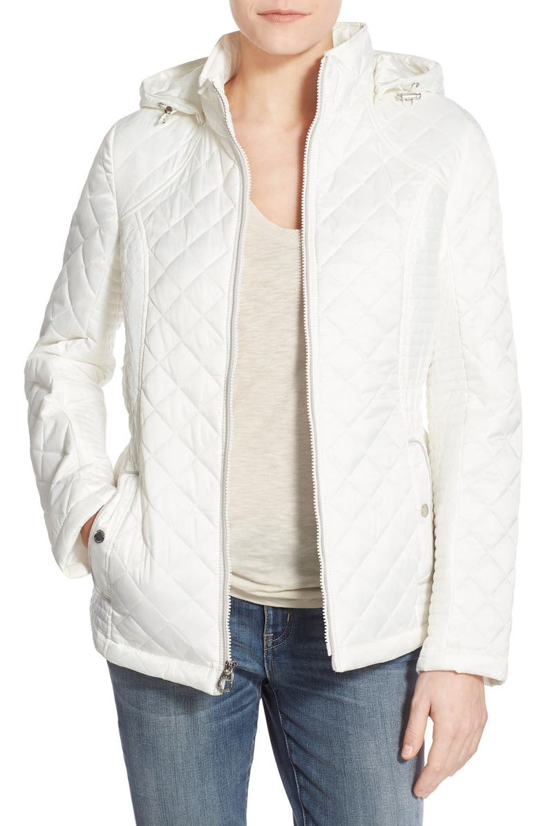 Laundry By Design Quilted Jacket With Detachable Hood Nordstrom