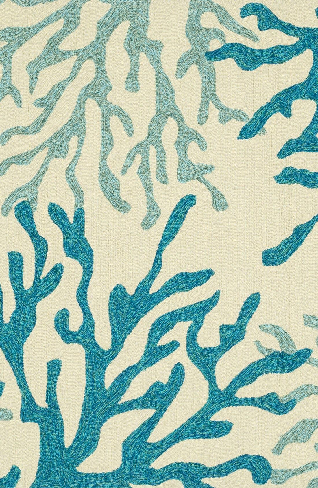 Alternate Image 1 Selected - Loloi 'Ventura Coral' Hank Hooked Indoor/Outdoor Rug