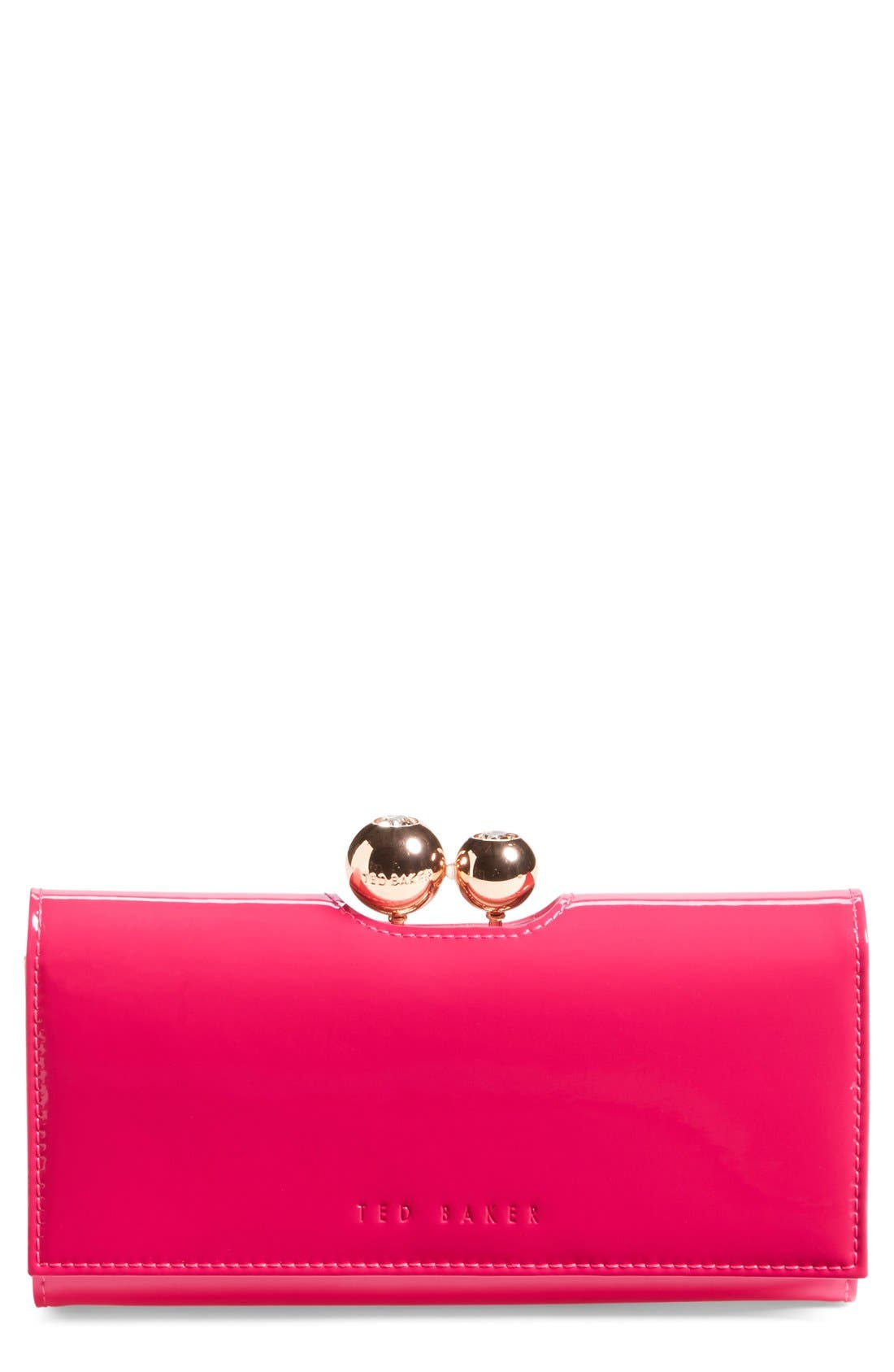 Main Image - Ted Baker London 'Odd Bobble' Patent Leather Matinee Wallet