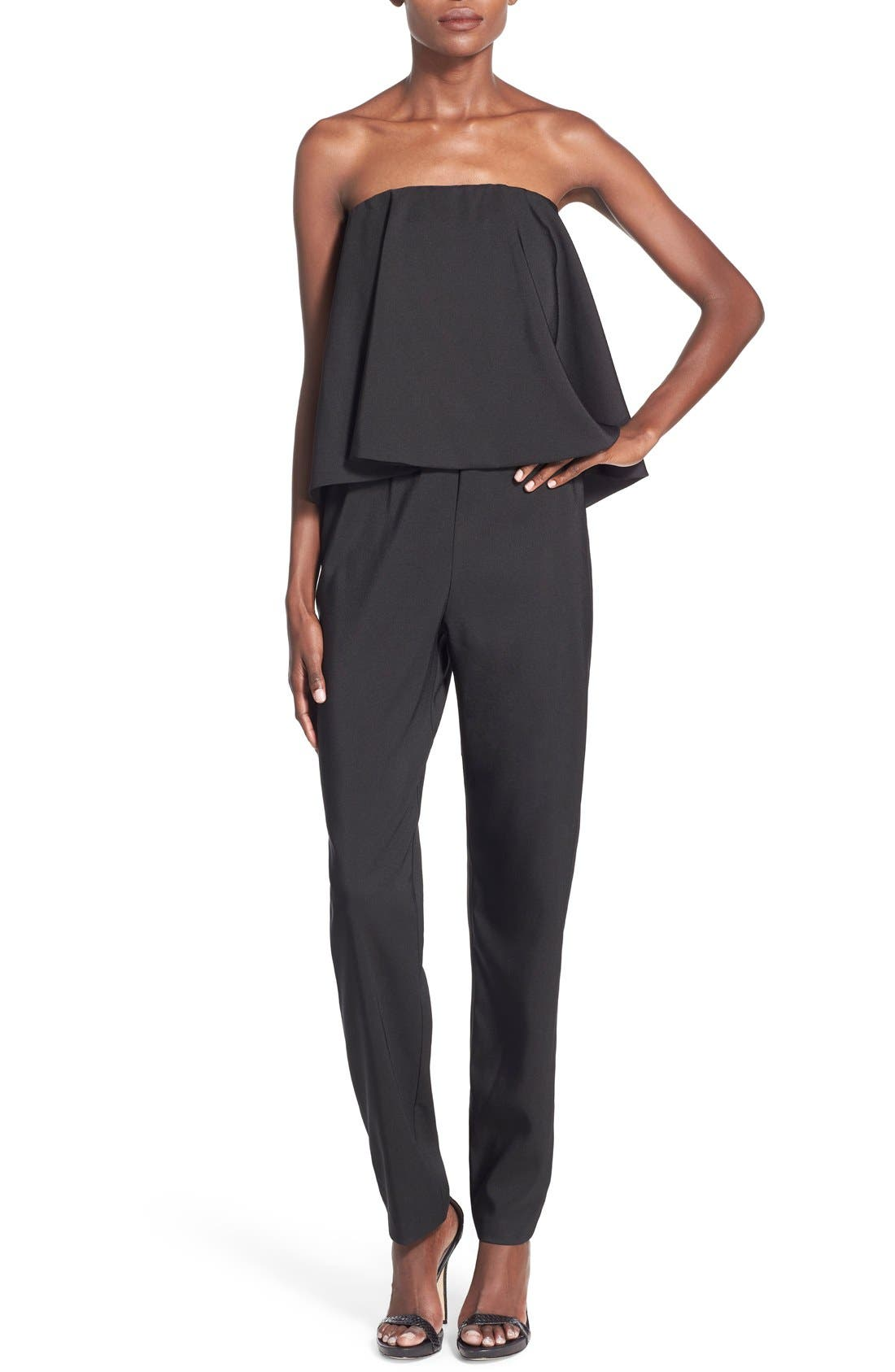 Alternate Image 1 Selected - WAYF Strapless Overlay Jumpsuit