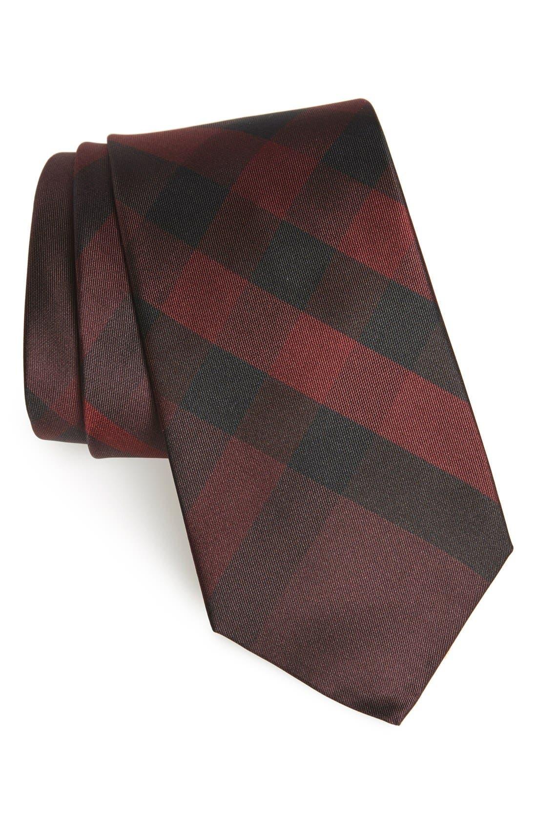 Burberry London 'Clinton' Check Silk Tie