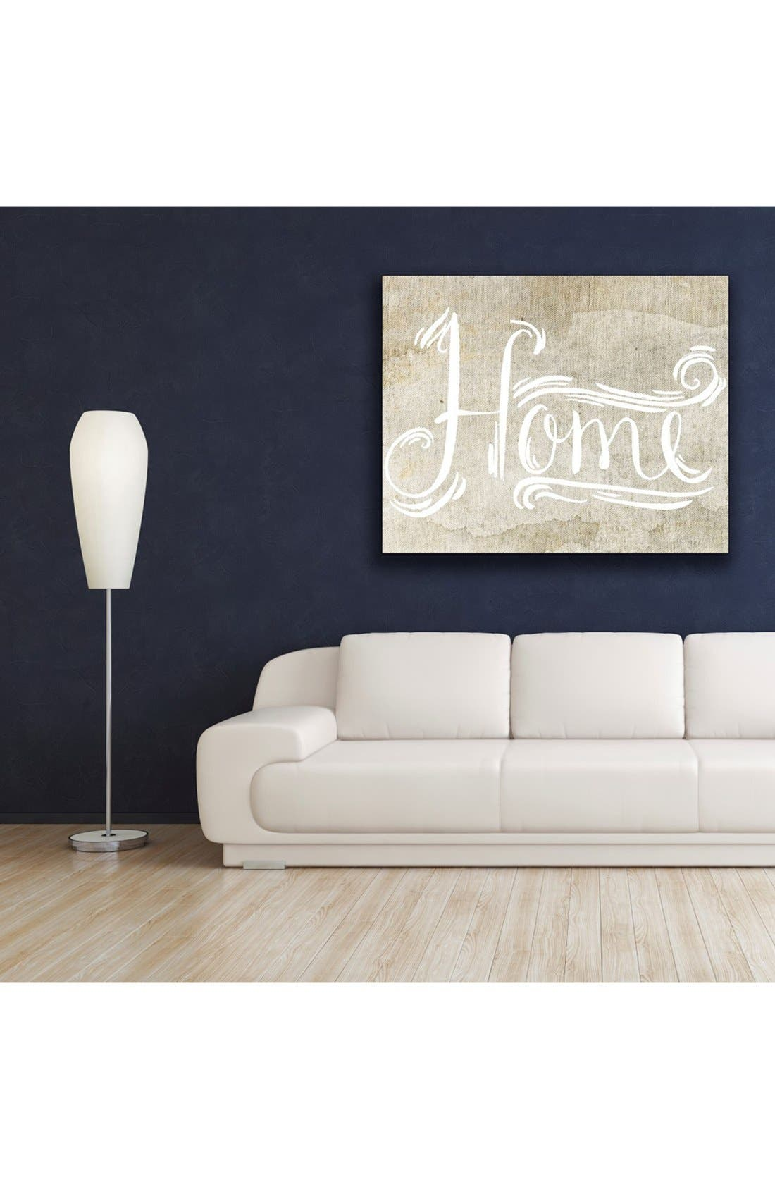 'Home Sweet Home' Hand Stretched Canvas Wall Art,                             Alternate thumbnail 2, color,                             Beige