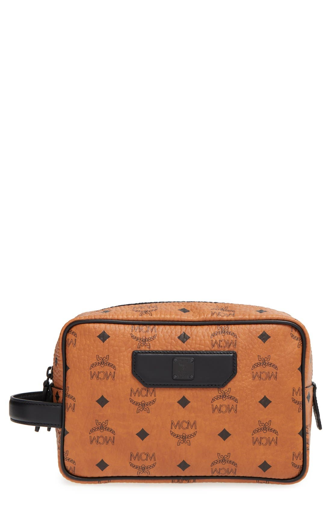 Main Image - MCM 'Nomad - Visetos' Coated Canvas Cosmetics Case