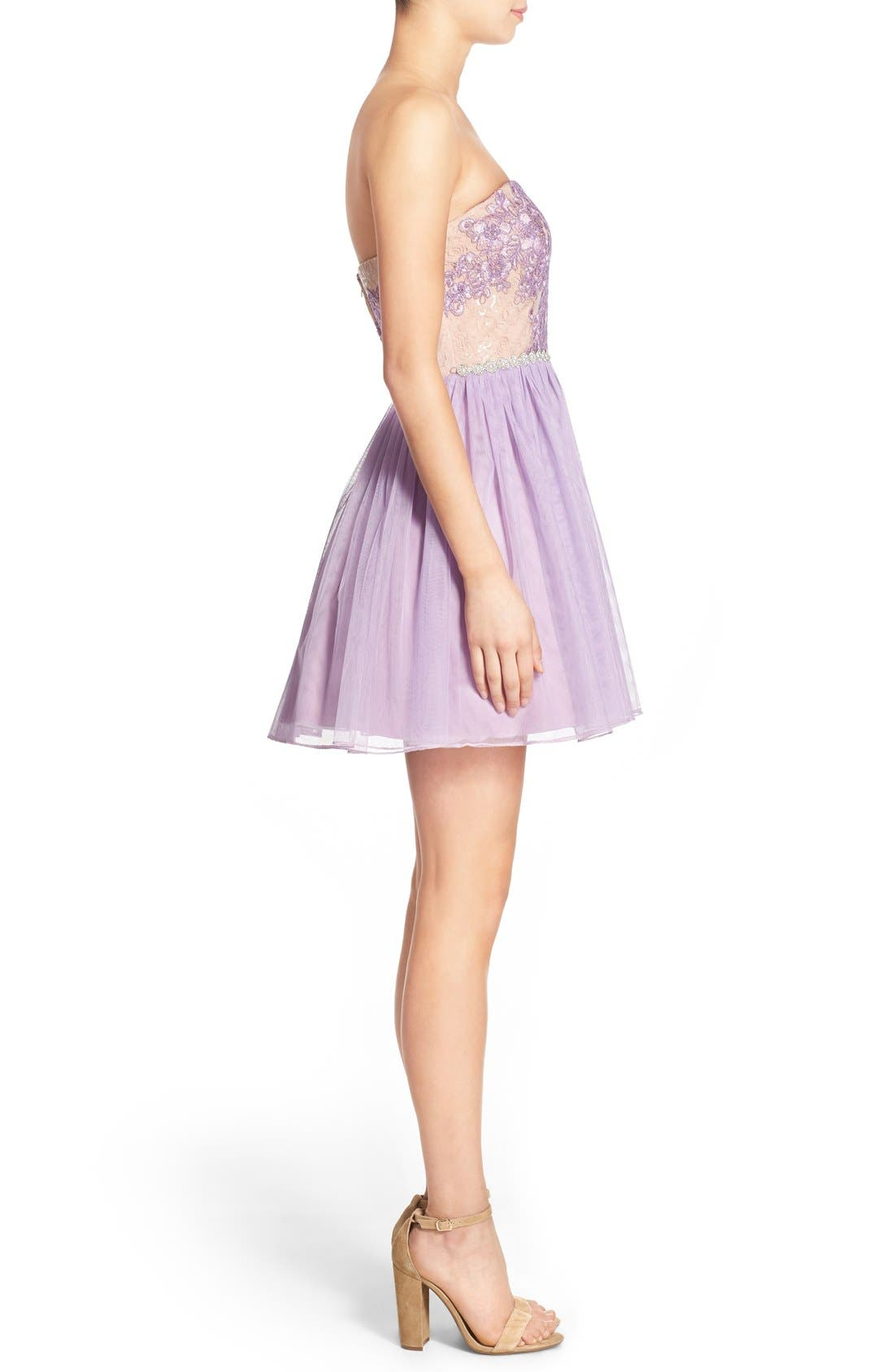 Alternate Image 3  - Way-In 'Claire' Embellished Strapless Skater Dress