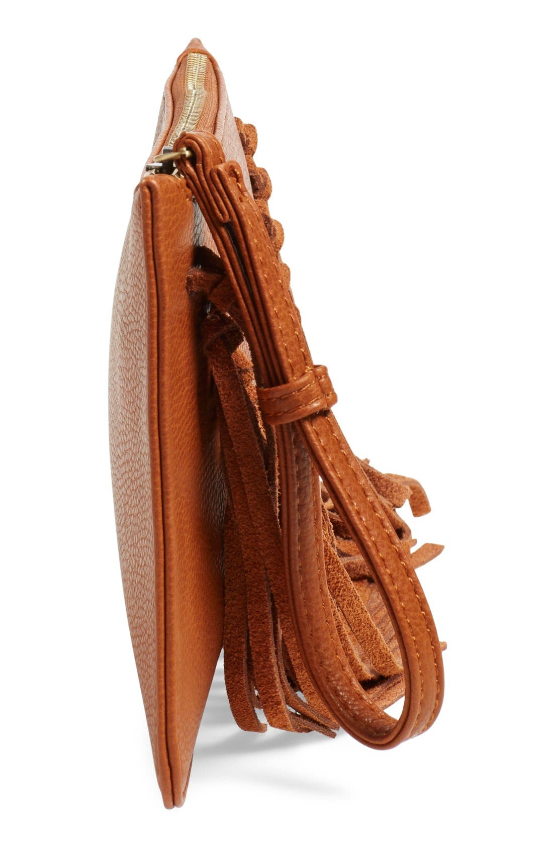 Alternate Image 5  - Sole Society Suede Fringe Clutch