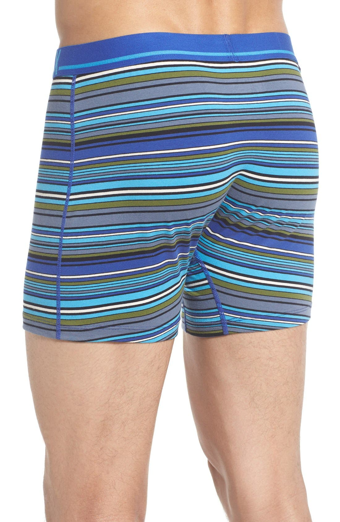 365 Boxer Briefs,                             Alternate thumbnail 3, color,                             Cobalt Blanket Stripe