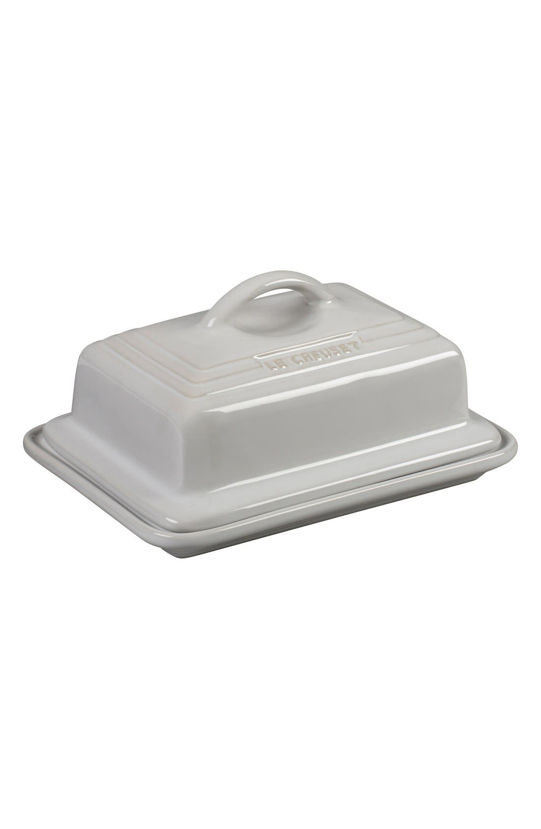 'Heritage' Stoneware Butter Dish & Lid,                         Main,                         color, White