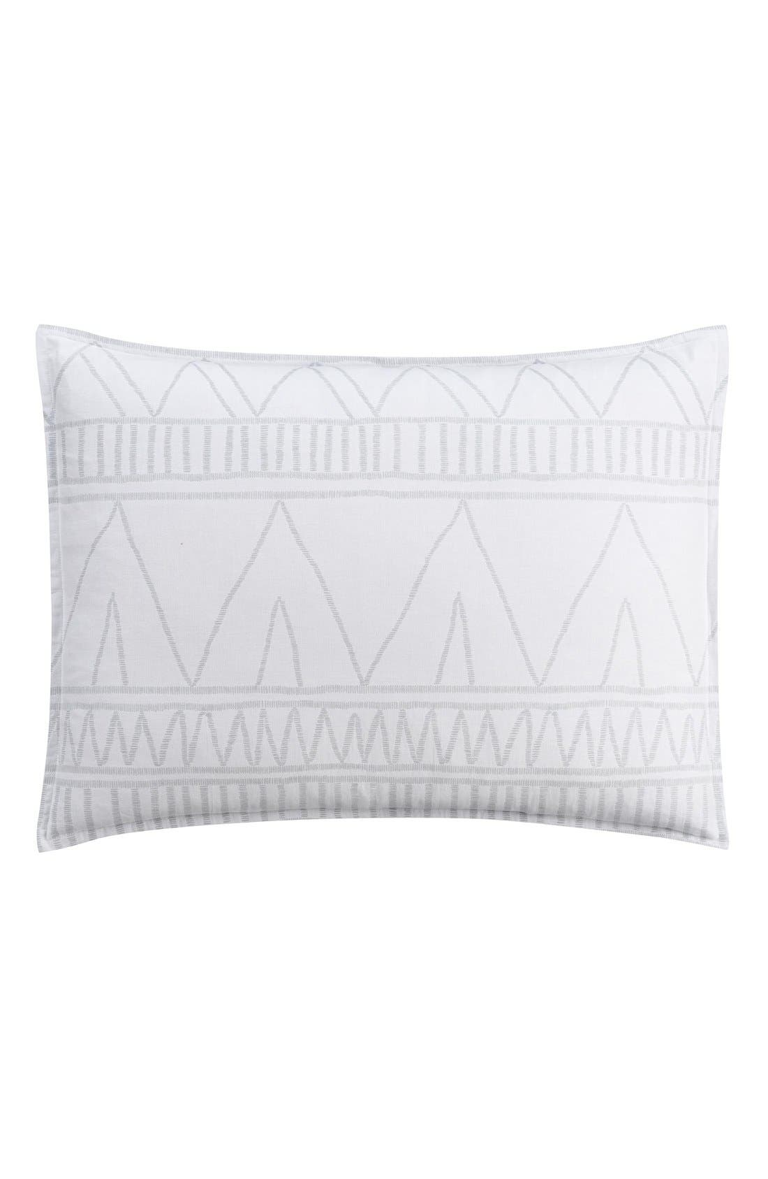 'Moroccan Geo' Sham,                         Main,                         color, White