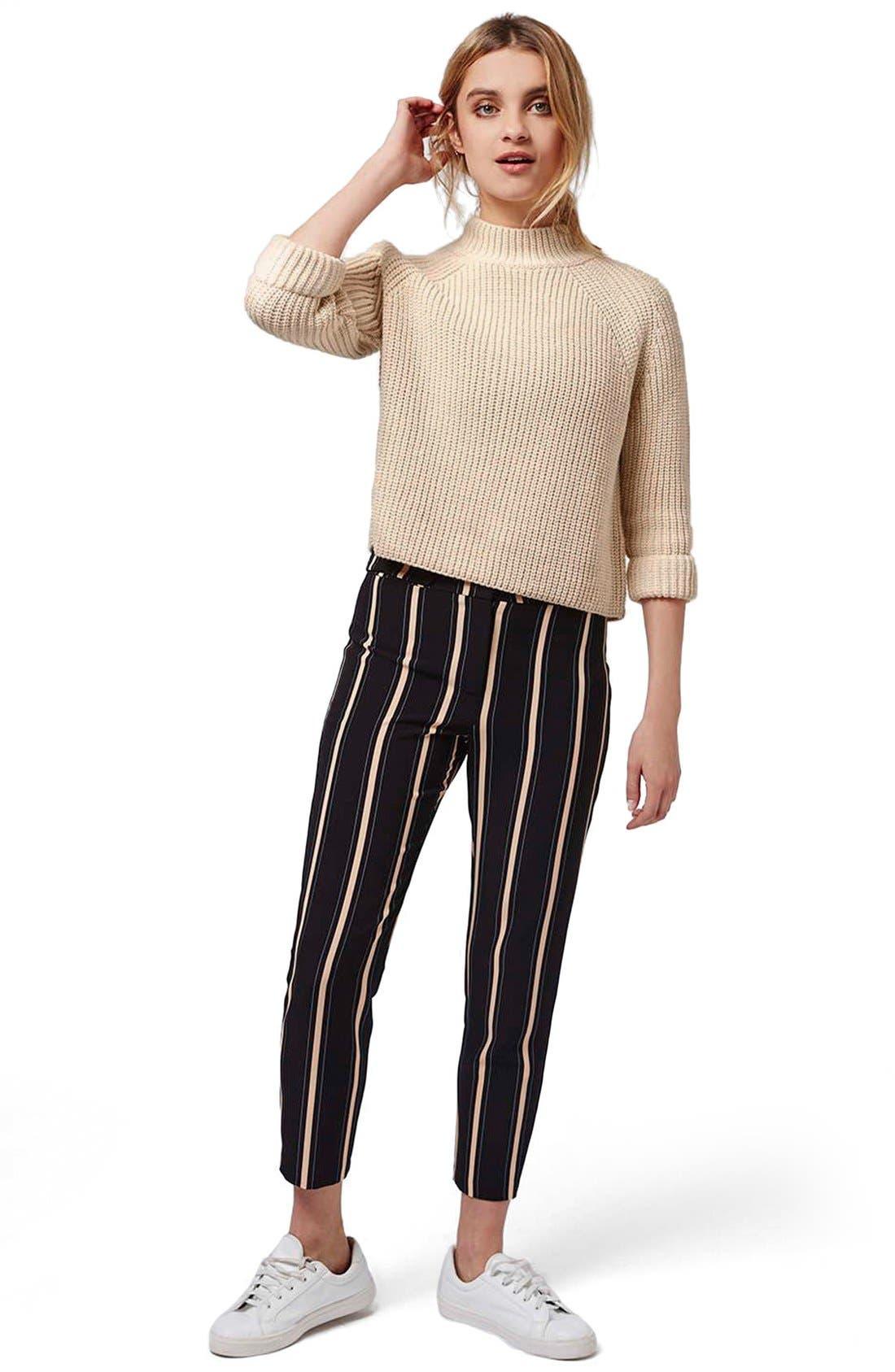 Alternate Image 2  - Topshop Mock Neck Raglan Sweater (Petite)