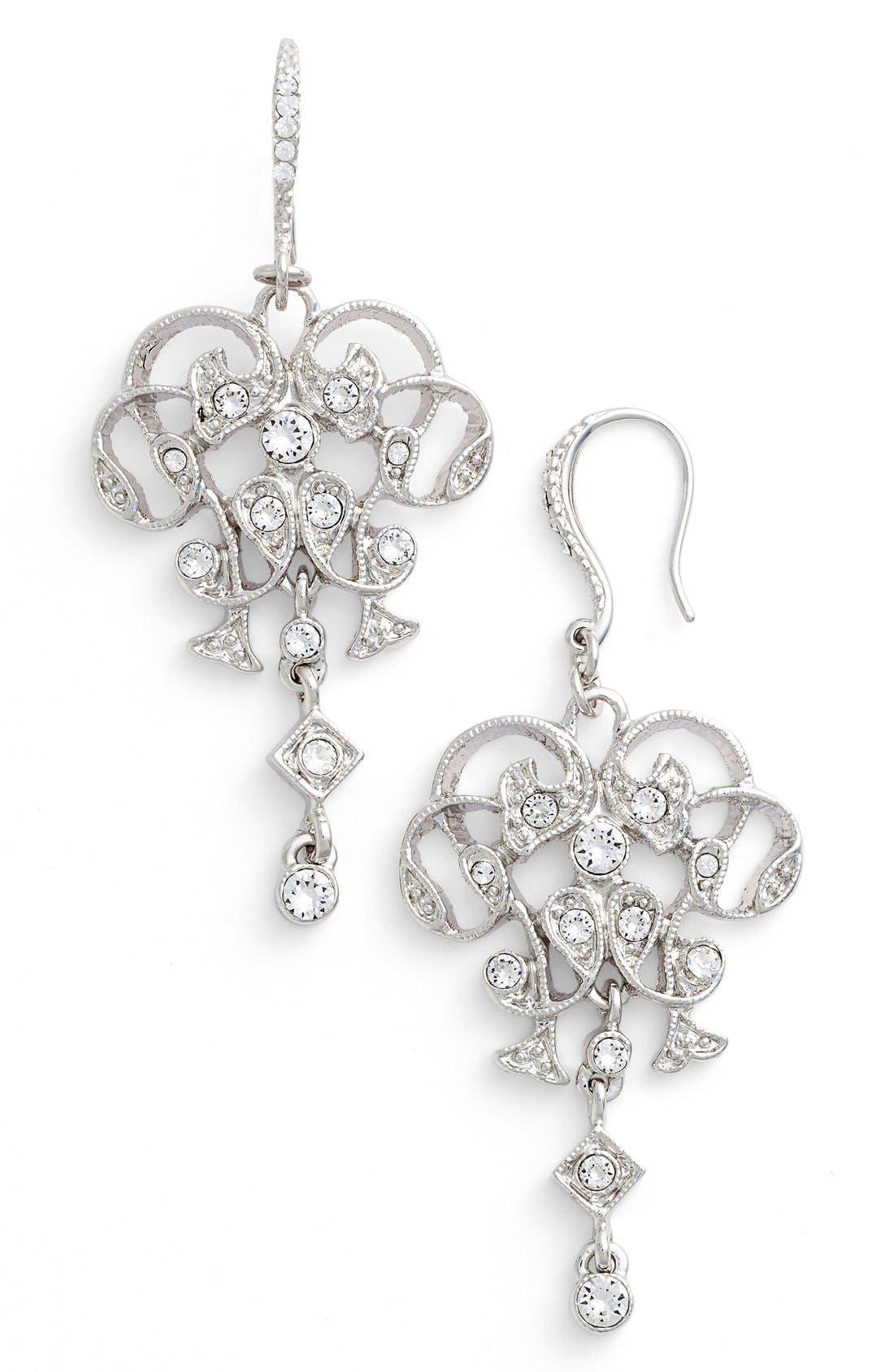 Alternate Image 1 Selected - Nina Swarovski Crystal Chandelier Earrings