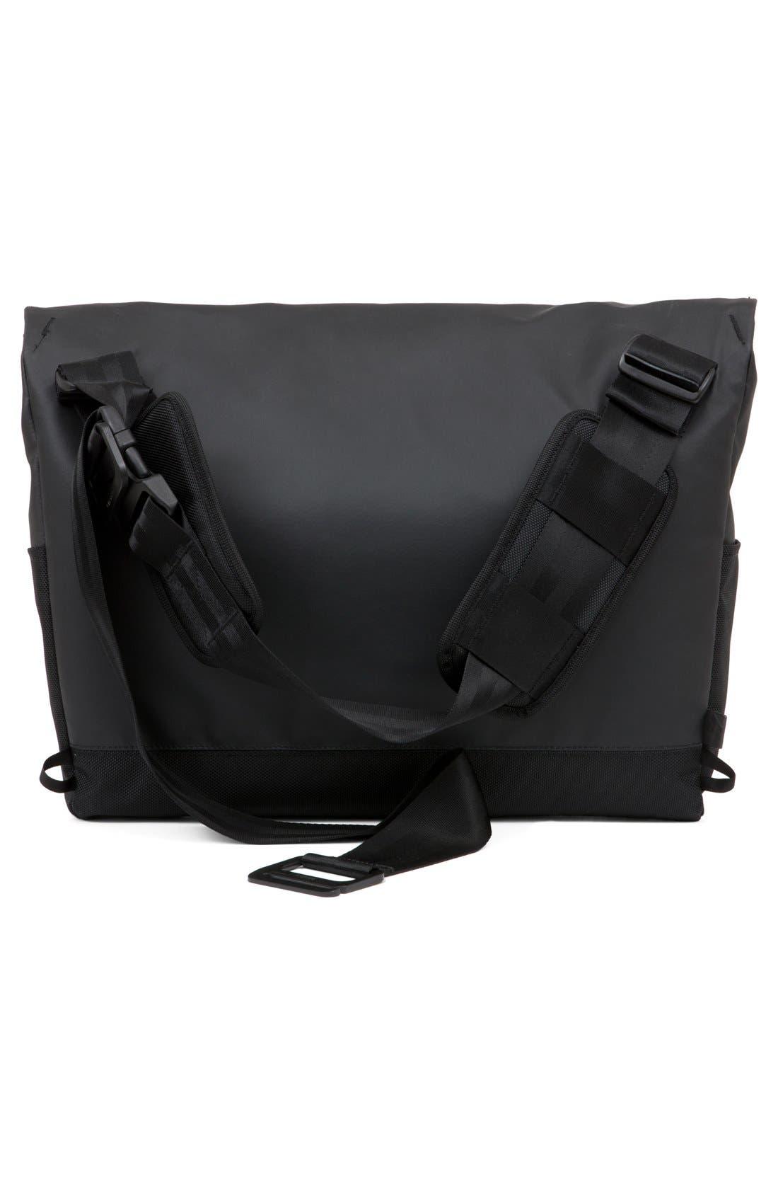 'Range' Messenger Bag,                             Alternate thumbnail 3, color,                             Black