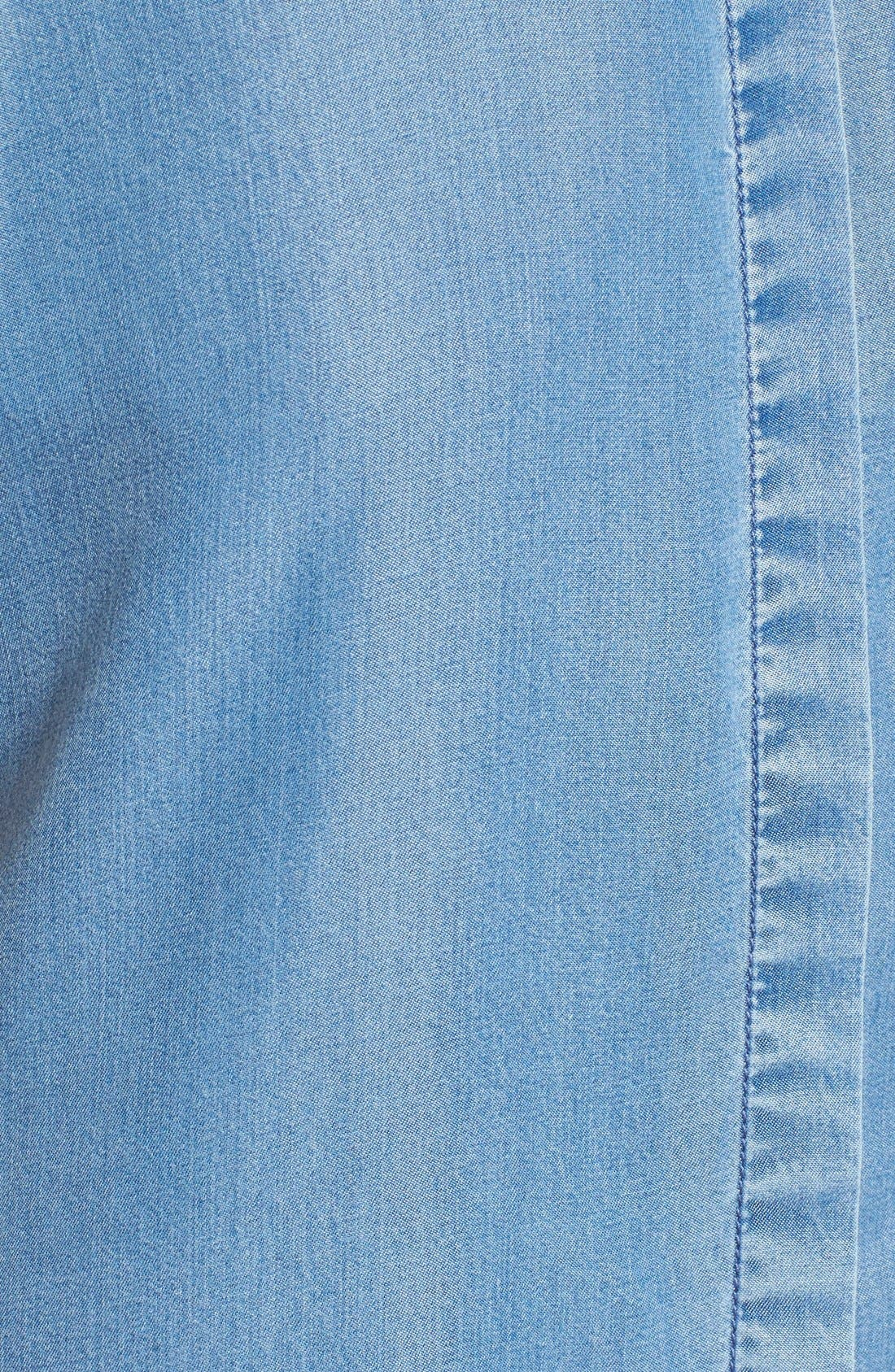 Alternate Image 5  - KENDALL + KYLIE Keyhole Back Chambray Top