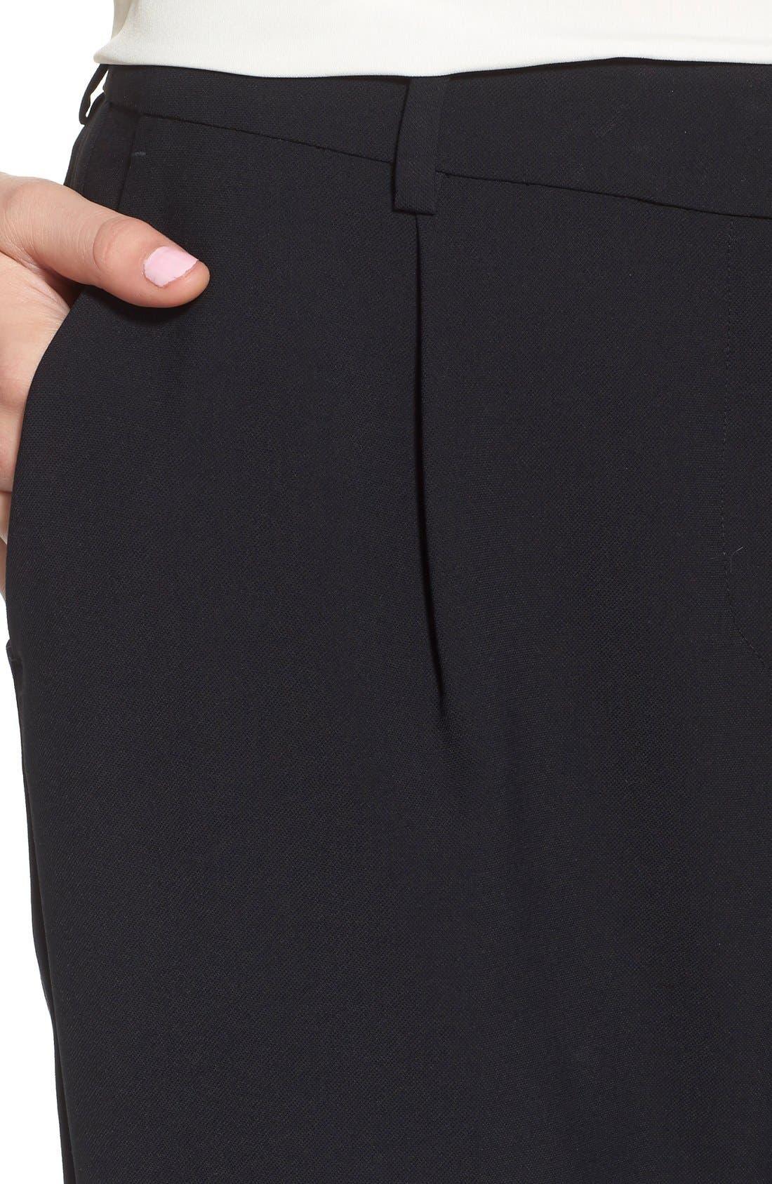 Alternate Image 5  - Trouvé High Waist Pleat Front Crop Pants