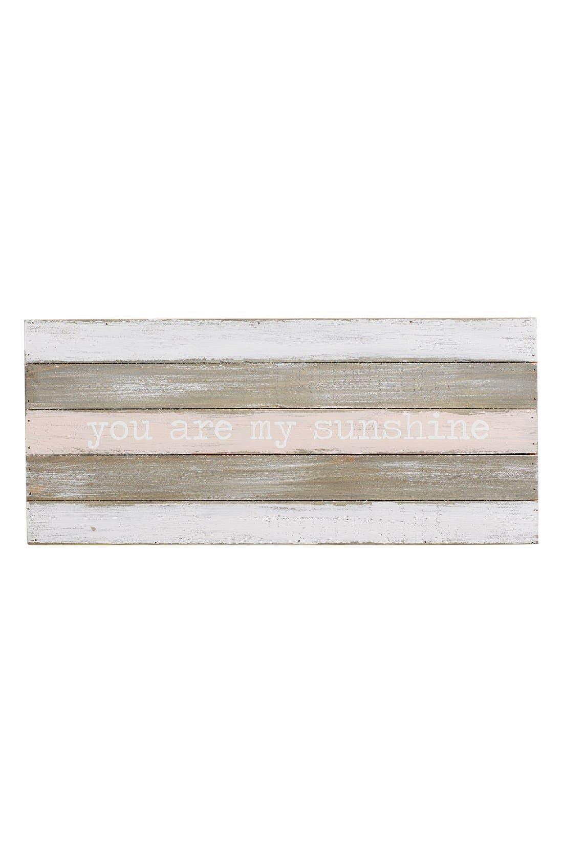 Mud Pie 'You Are My Sunshine' Wood Wall Art